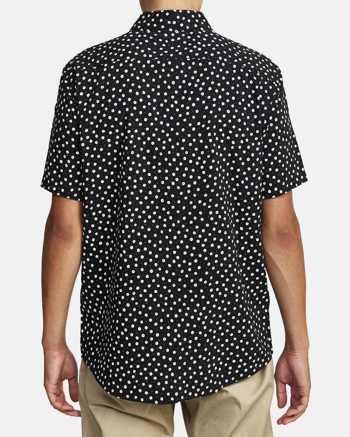 5 Costello Floral Button-Up Shirt Black M501WRCO RVCA