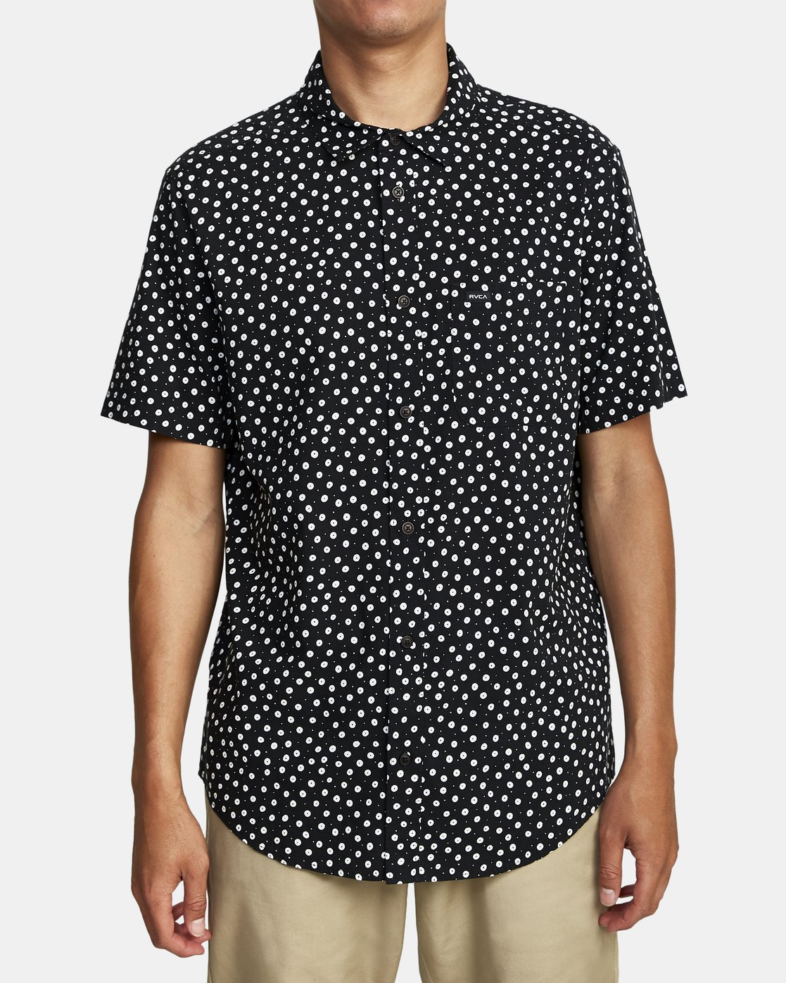 4 Costello Floral Button-Up Shirt Black M501WRCO RVCA