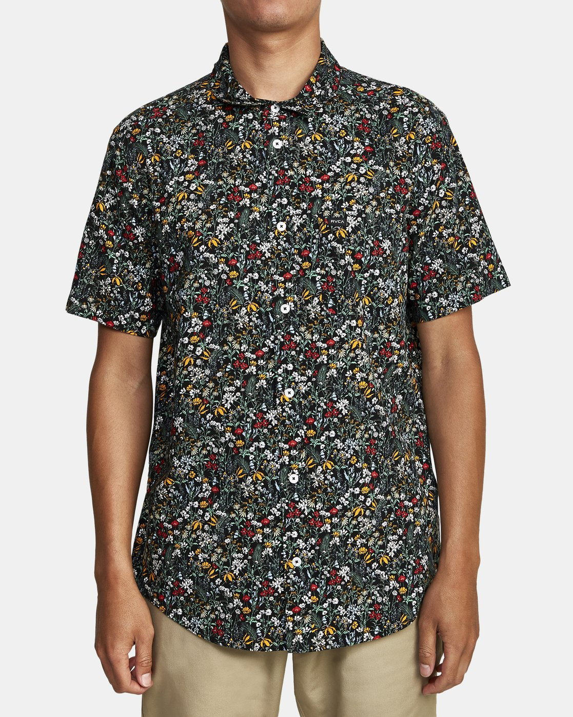 3 Costello Floral Button-Up Shirt Grey M501WRCO RVCA