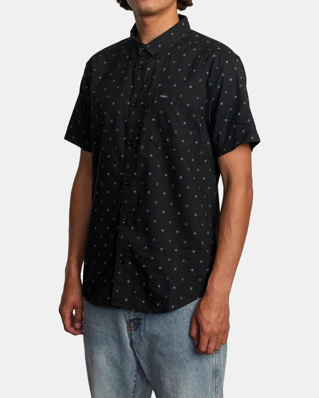2 That'll Do Short Sleeve Shirt Black M502VRTD RVCA
