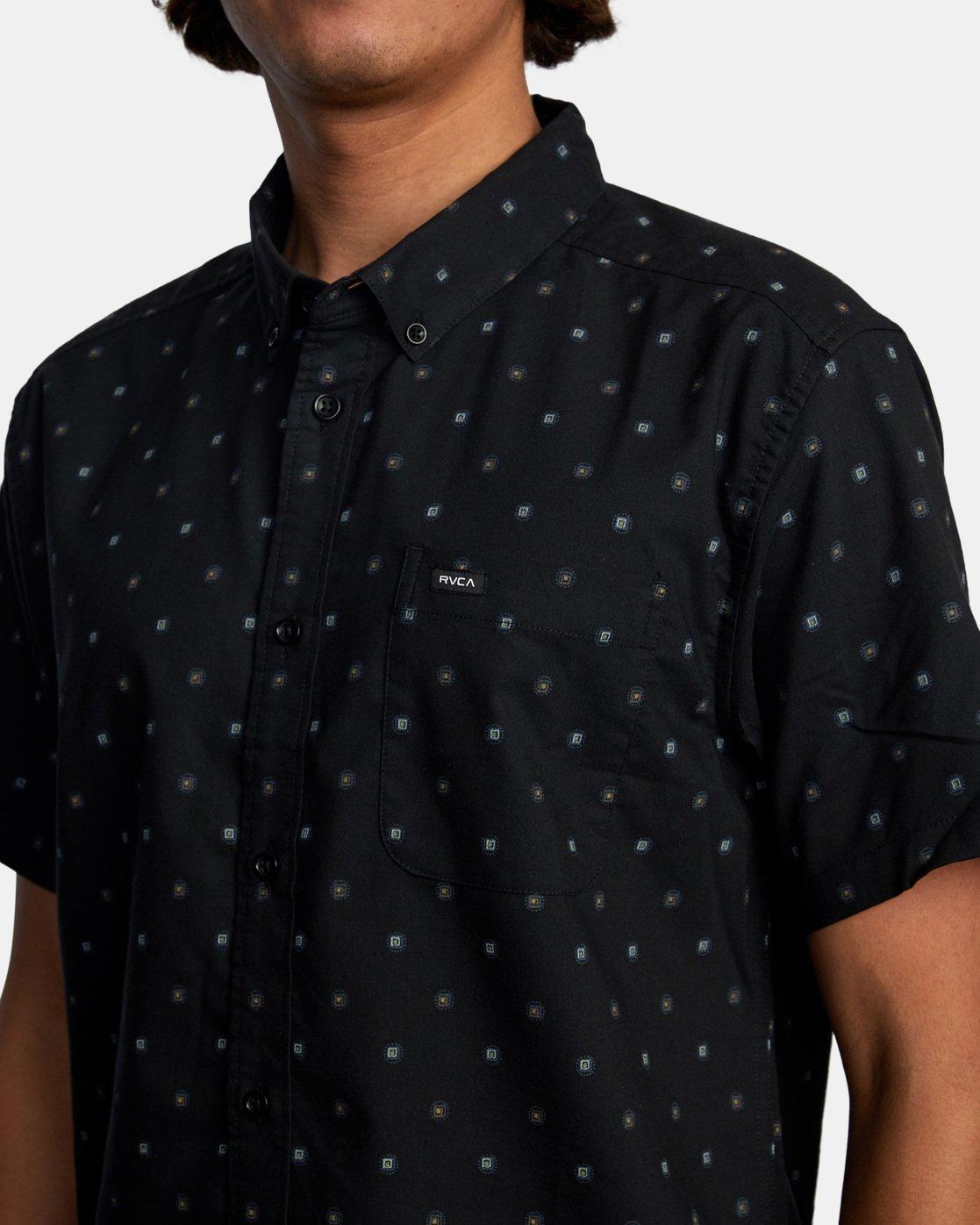 4 That'll Do Short Sleeve Shirt Black M502VRTD RVCA