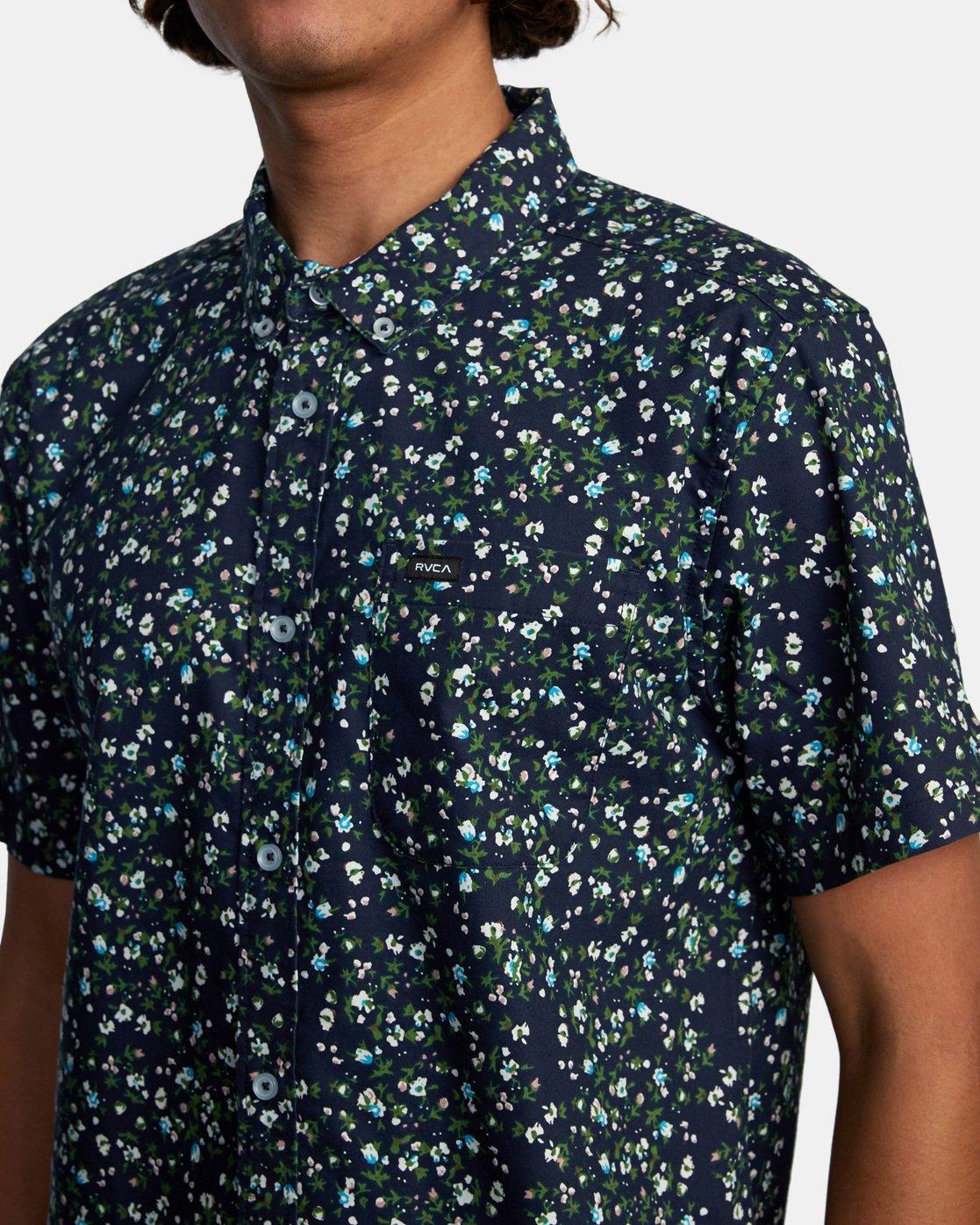 5 That'll Do Short Sleeve Shirt Blue M502VRTD RVCA