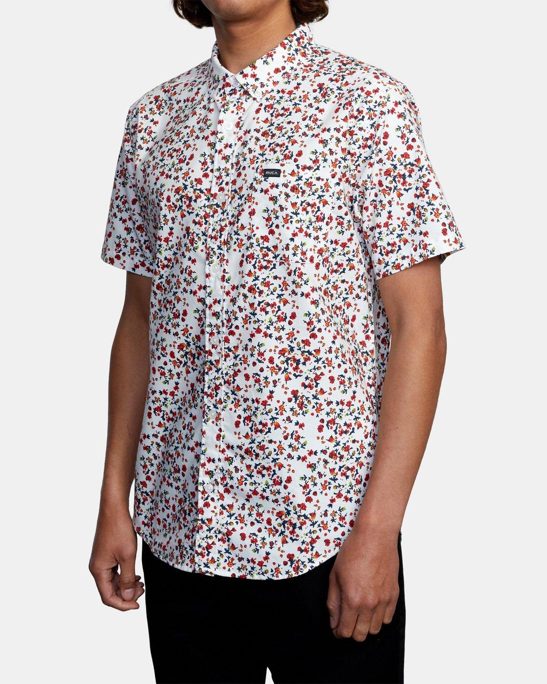 3 That'll Do Short Sleeve Shirt White M502VRTD RVCA