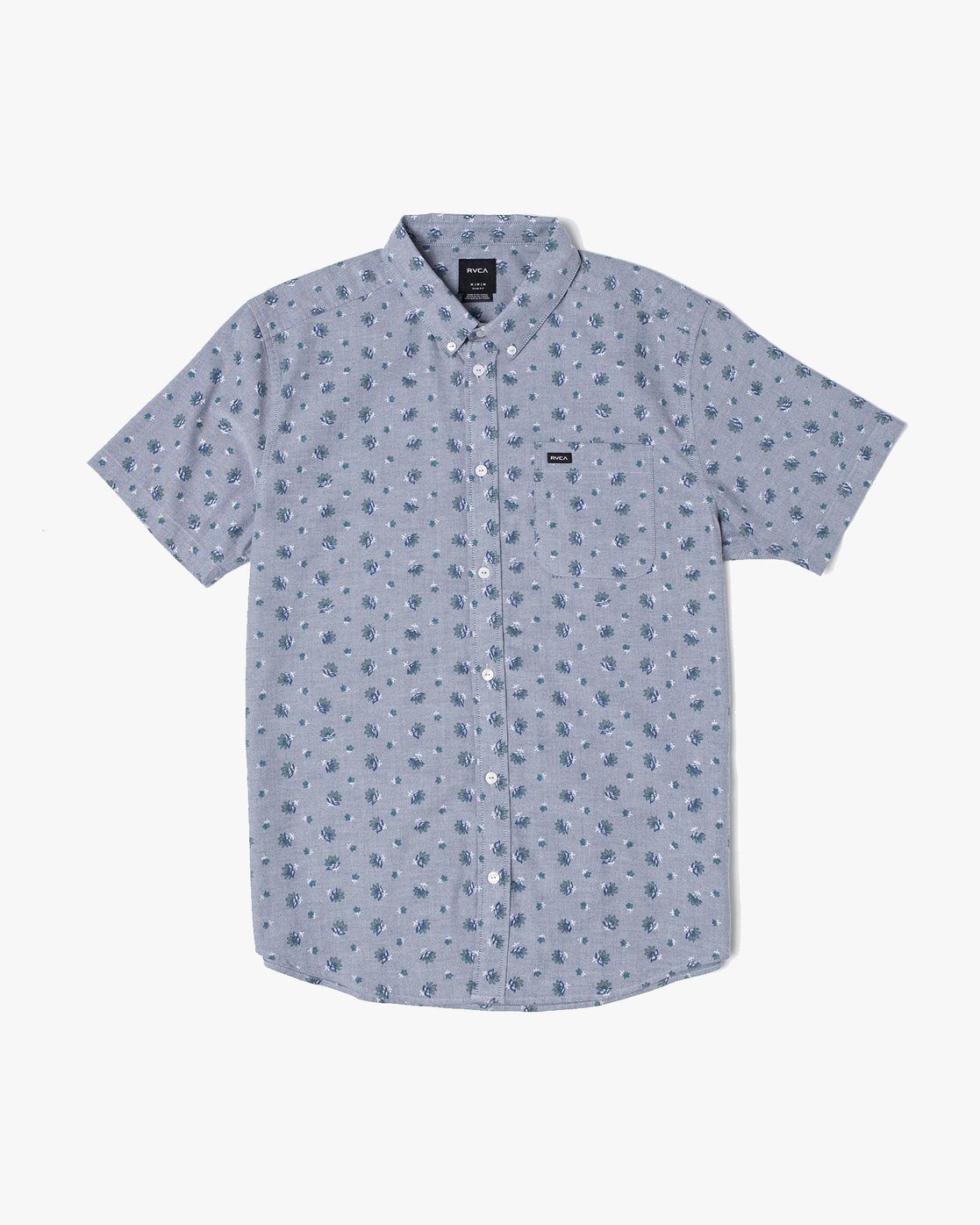 2 THAT'LL DO PRINT BUTTON-UP SHIRT Blue M502VRTP RVCA