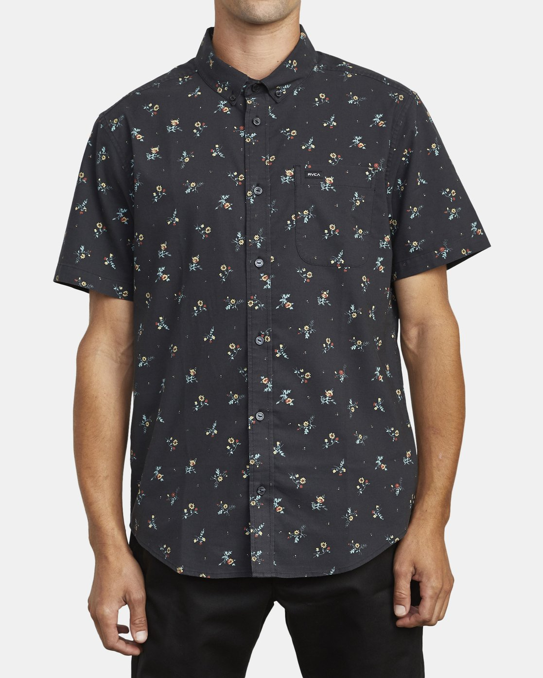 0 THAT'LL DO PRINT BUTTON-UP SHIRT Black M502VRTP RVCA