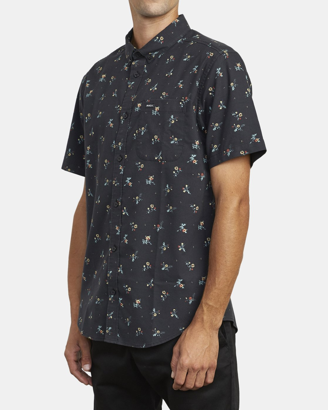 4 THAT'LL DO PRINT BUTTON-UP SHIRT Black M502VRTP RVCA