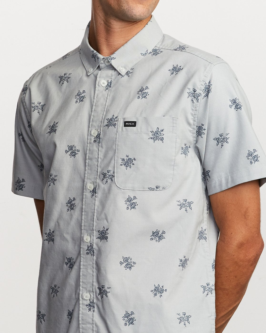 3 That'll Do Print Button-Up Shirt Green M502VRTP RVCA