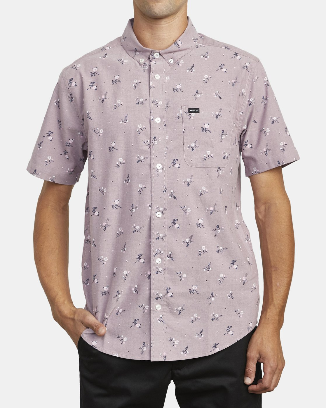 1 THAT'LL DO PRINT BUTTON-UP SHIRT Red M502VRTP RVCA