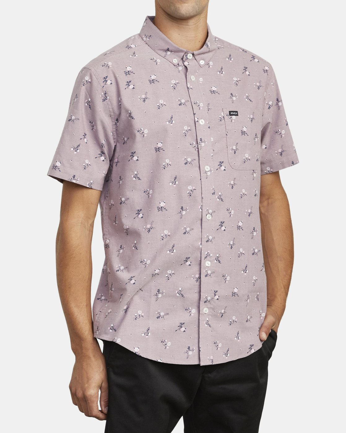 4 THAT'LL DO PRINT BUTTON-UP SHIRT Red M502VRTP RVCA