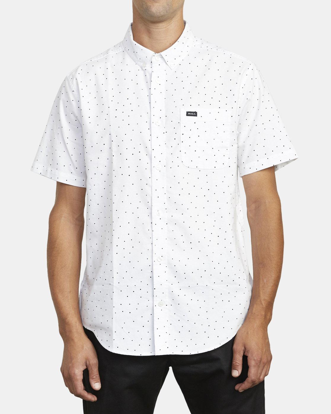 0 THAT'LL DO PRINT BUTTON-UP SHIRT White M502VRTP RVCA
