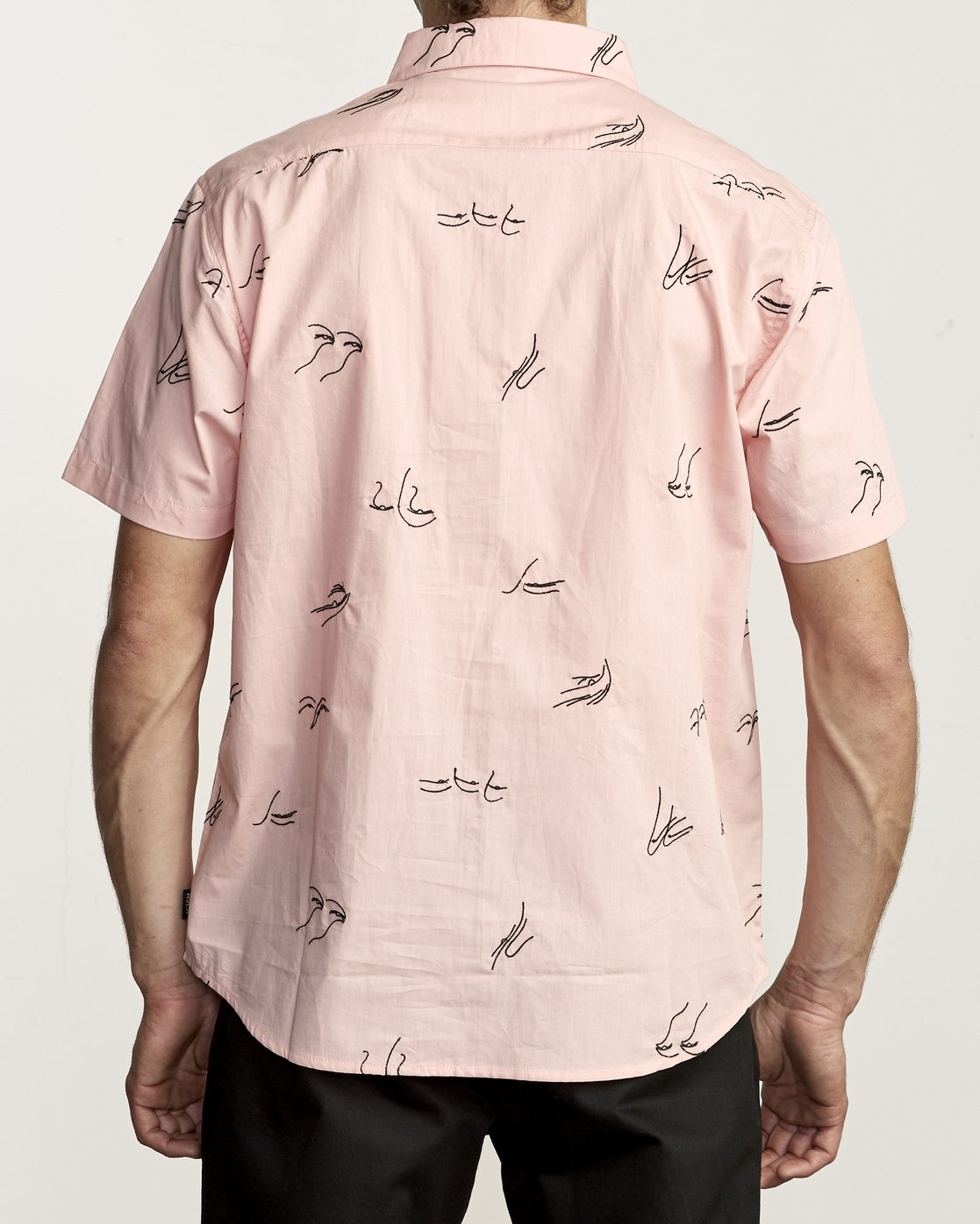 1 JOHANNA GESTURES BUTTON-UP SHIRT Pink M5031RJG RVCA