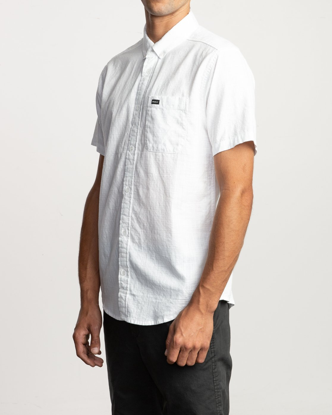 2 That'll Do Dobby Button-Up Shirt White M503VRDD RVCA