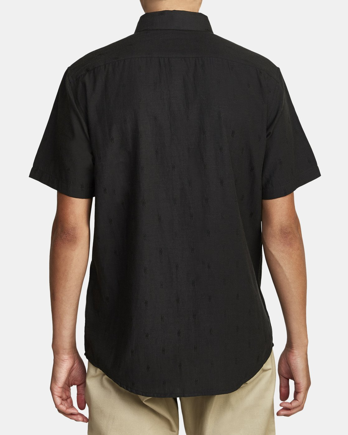 4 THAT'LL DO DOBBY BUTTON-UP SHIRT Black M503VRDD RVCA