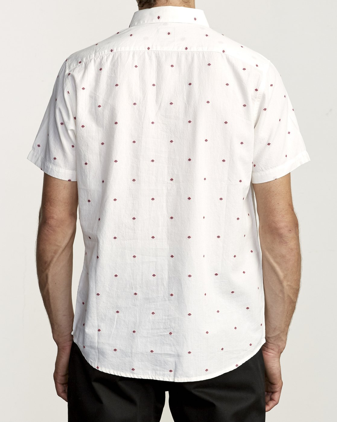 2 THATLL DO DOBBY SHORT SLEEVE SHIRT White M503VRDD RVCA