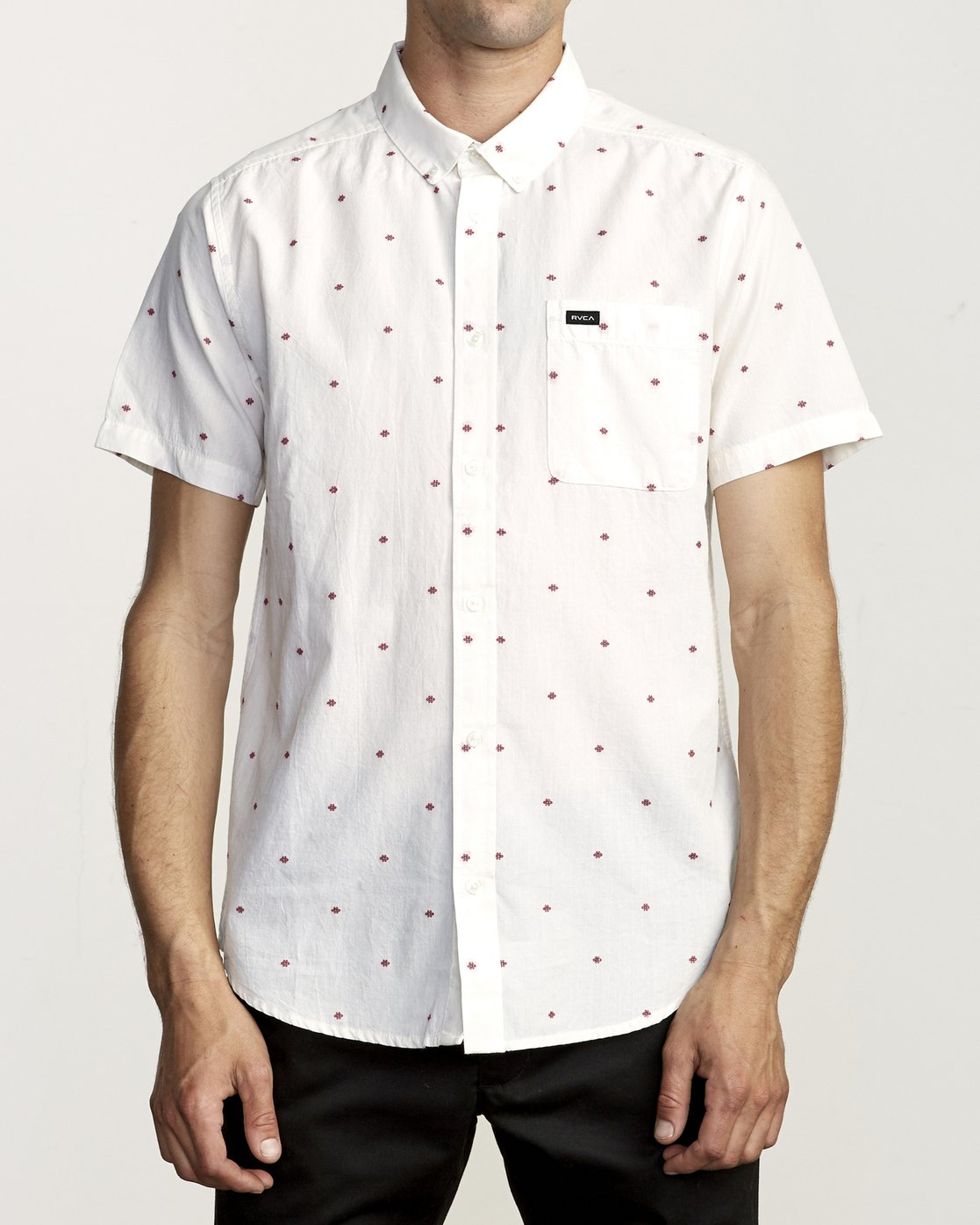 0 THATLL DO DOBBY SHORT SLEEVE SHIRT White M503VRDD RVCA