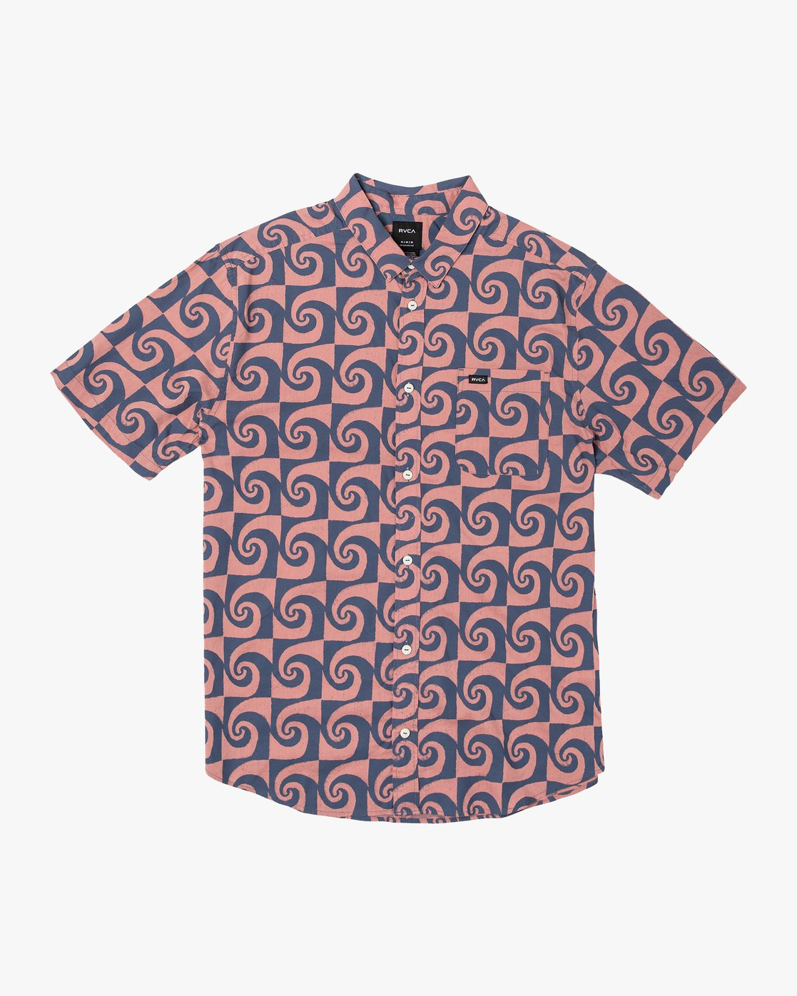 4 Whirlpool Button-Up Shirt Red M503VRWP RVCA
