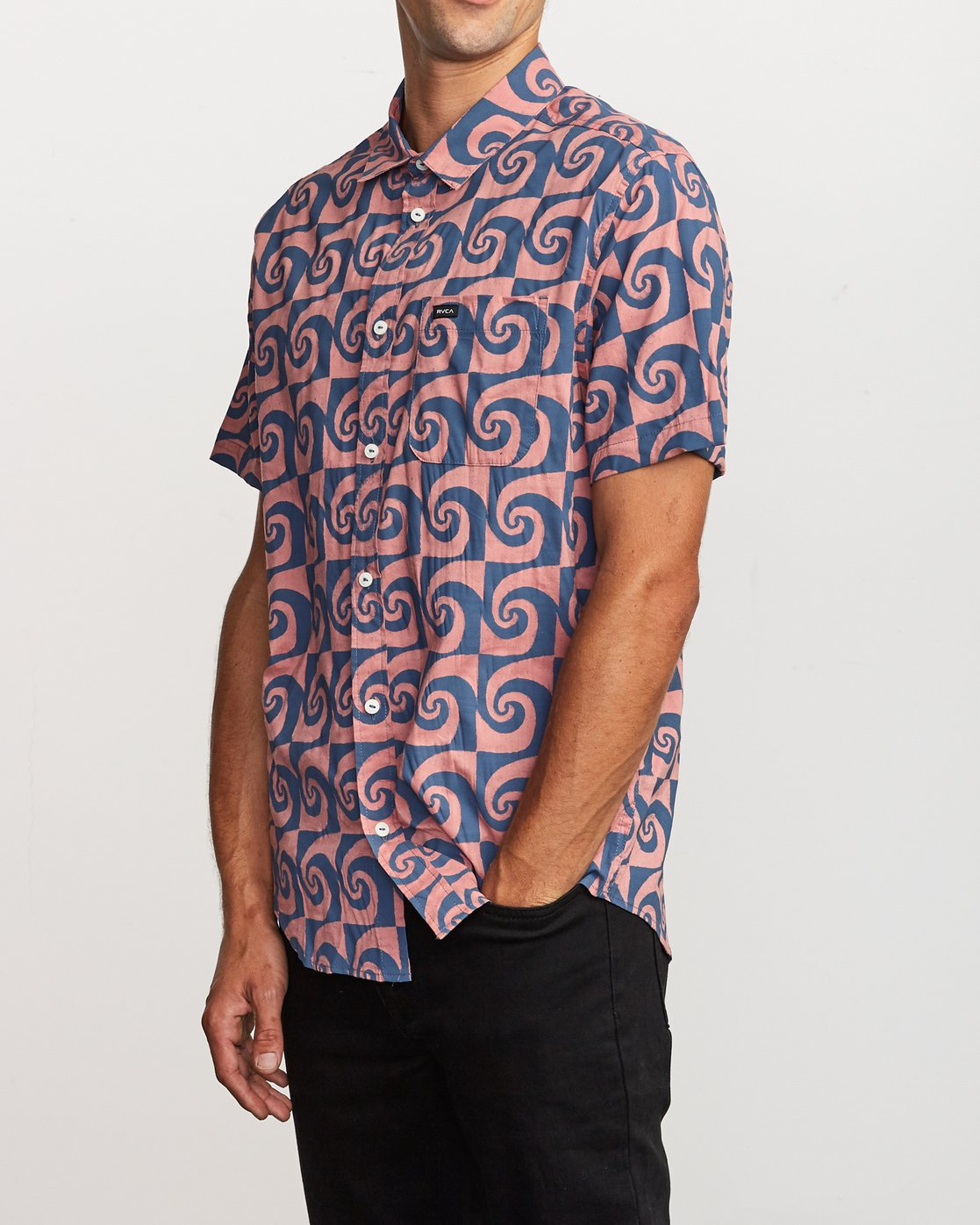 2 Whirlpool Button-Up Shirt Red M503VRWP RVCA