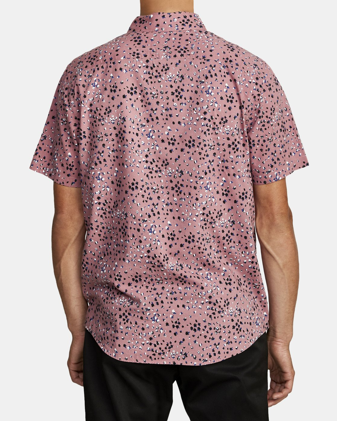 5 OLIVER SHORT SLEEVE SHIRT Purple M5042ROL RVCA
