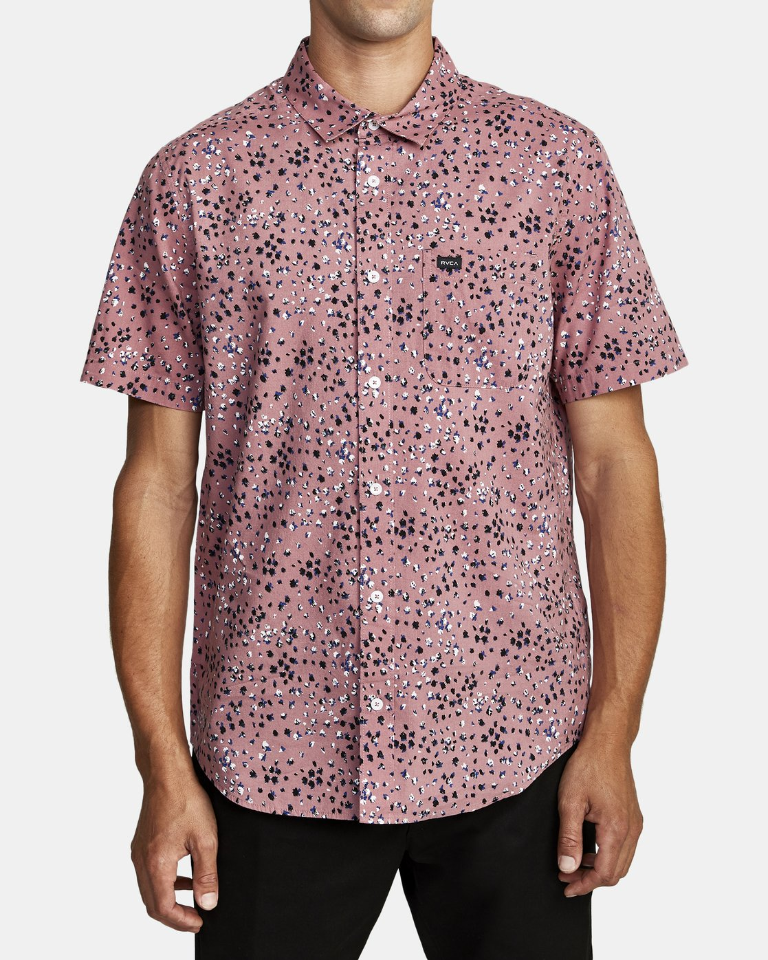 4 OLIVER SHORT SLEEVE SHIRT Purple M5042ROL RVCA