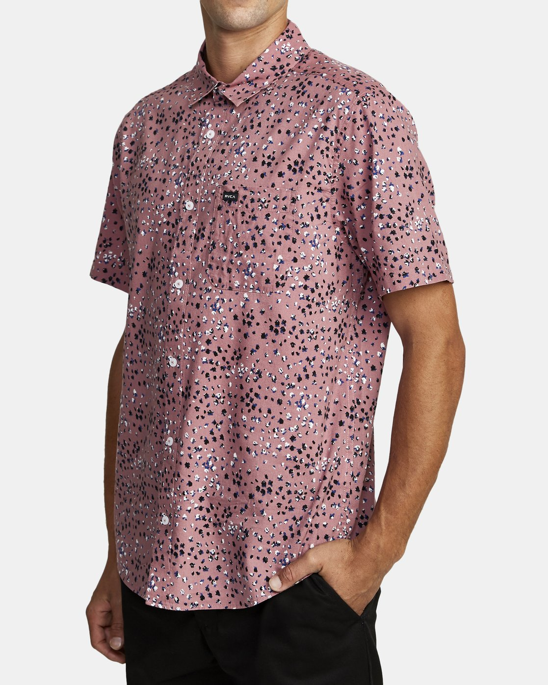 6 OLIVER SHORT SLEEVE SHIRT Purple M5042ROL RVCA