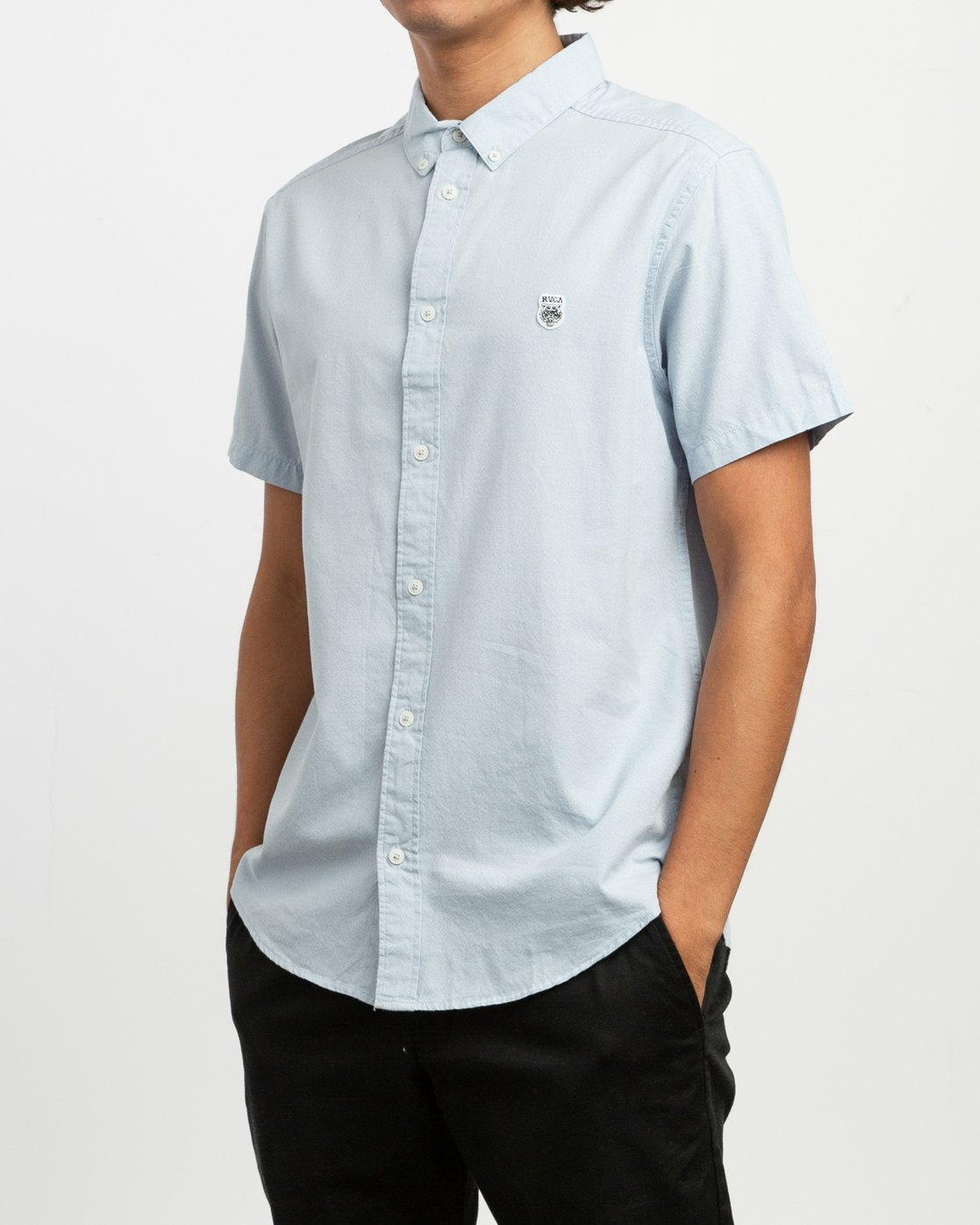 2 ANP Twist Shirt Blue M504TRAT RVCA