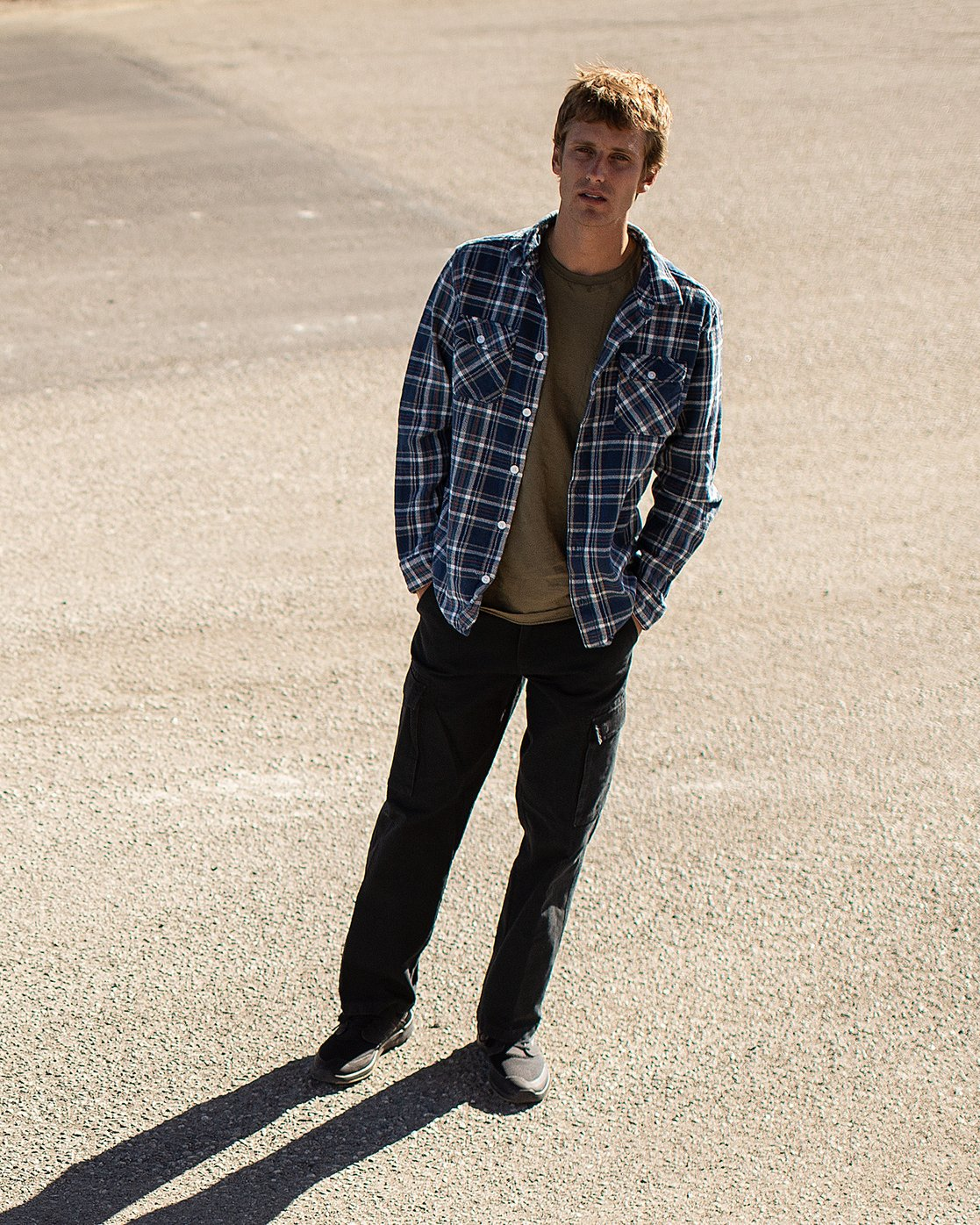 1 Avett Flannel Long Sleeve Shirt Blue M504VRAV RVCA