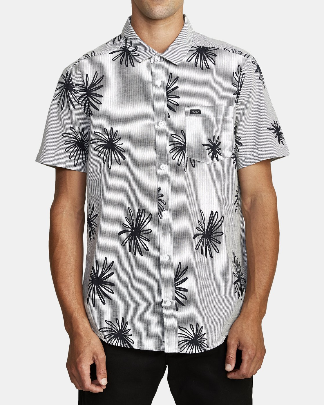 4 WHIRLS SHORT SLEEVE SHIRT Black M5052RWH RVCA