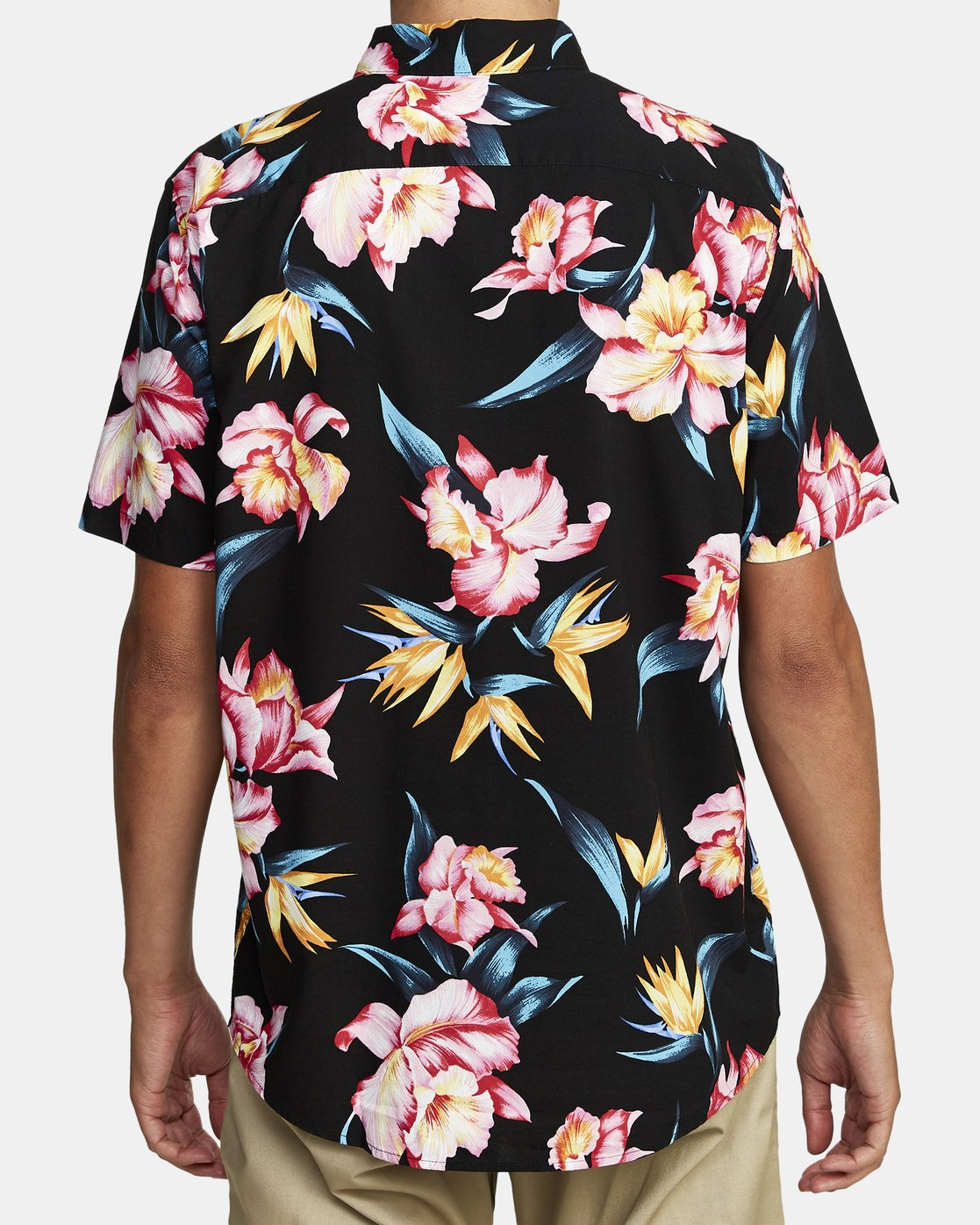 6 AKORA FLORAL SHORT SLEEVE SHIRT Black M5062RAK RVCA