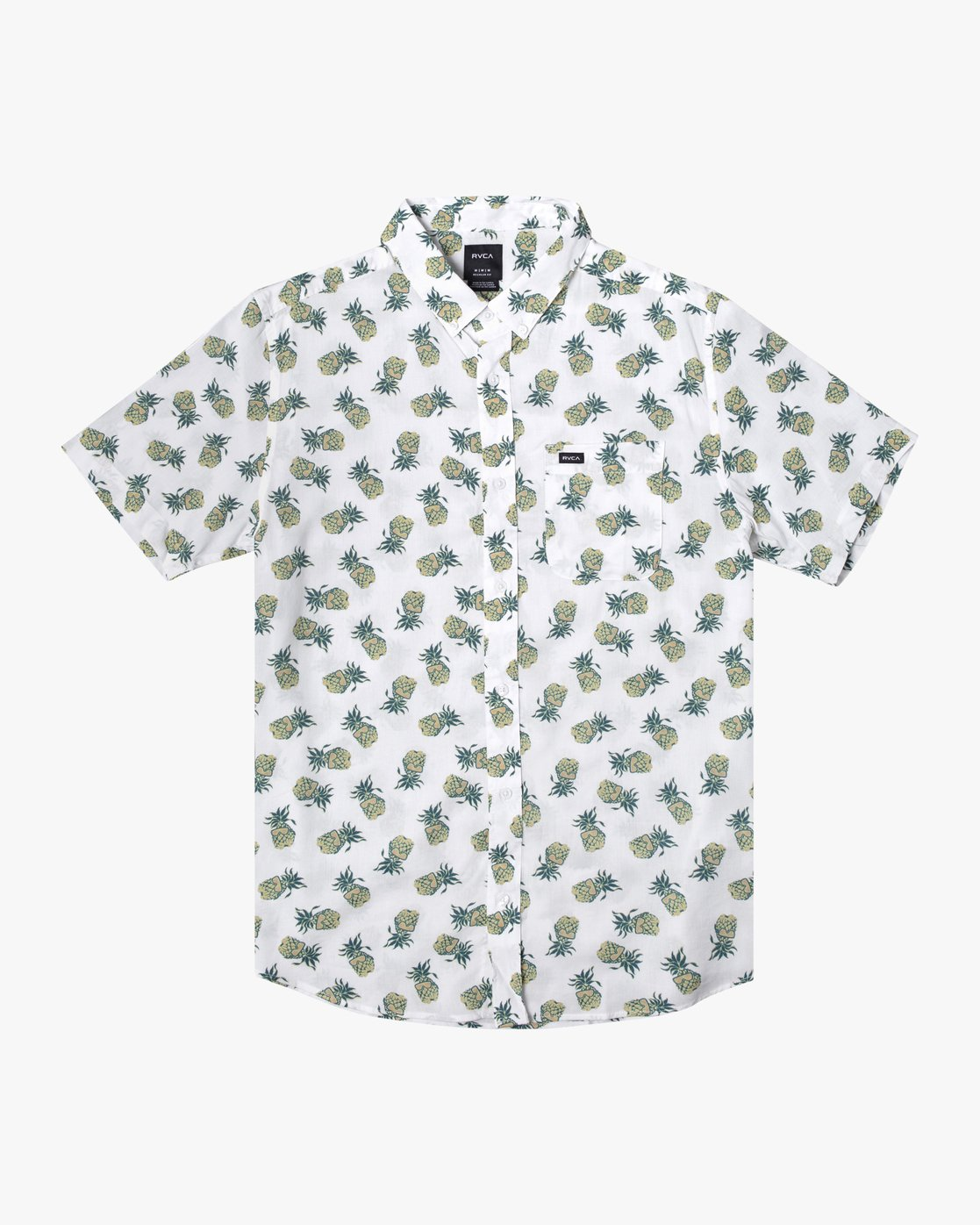 3 DMOTE REFLECTIONS SHORT SLEEVE SHIRT White M5062RDR RVCA