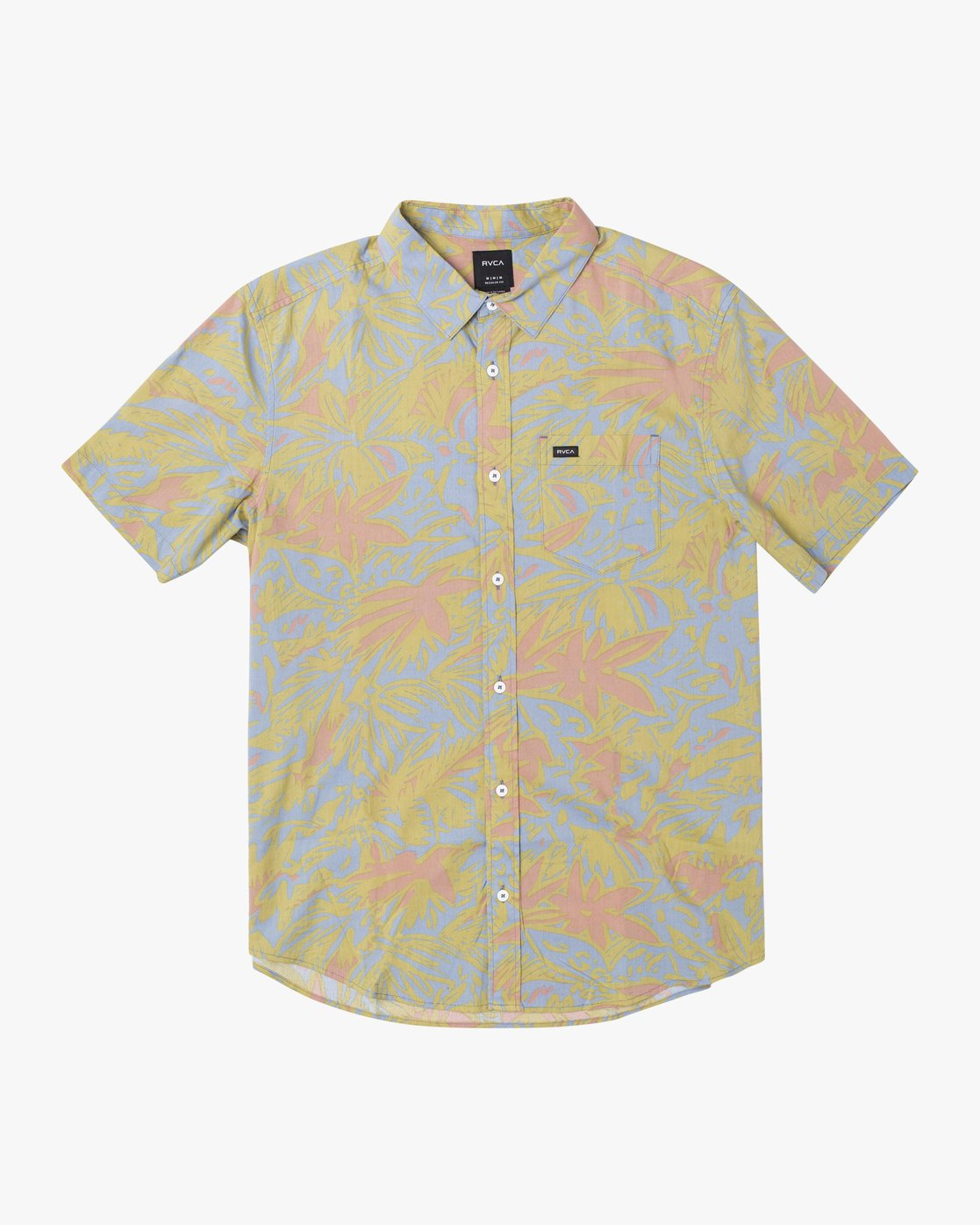 1 SANDERSON FLORAL SHORT SLEEVE SHIRT Blue M5063RSF RVCA