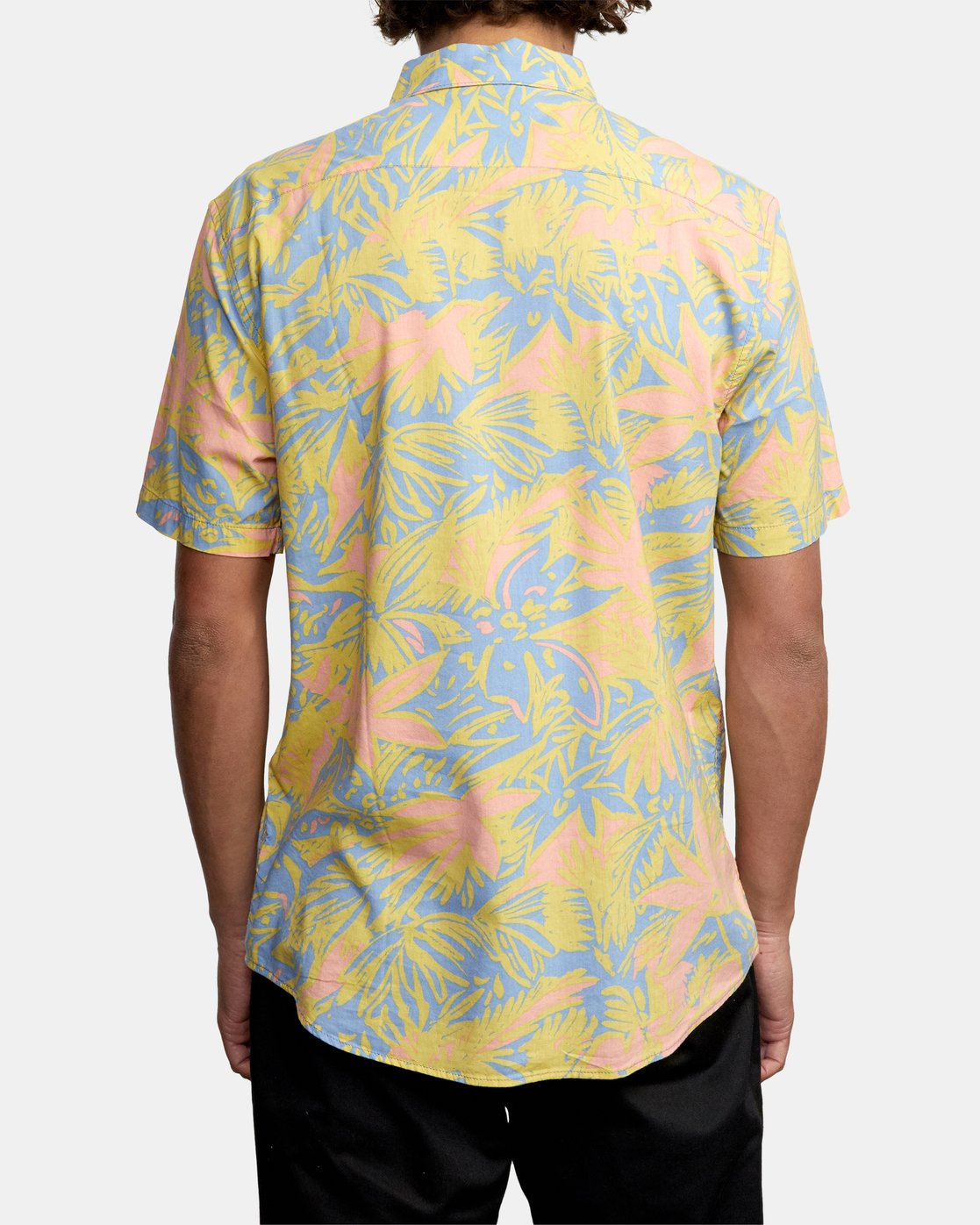 7 SANDERSON FLORAL SHORT SLEEVE SHIRT Blue M5063RSF RVCA