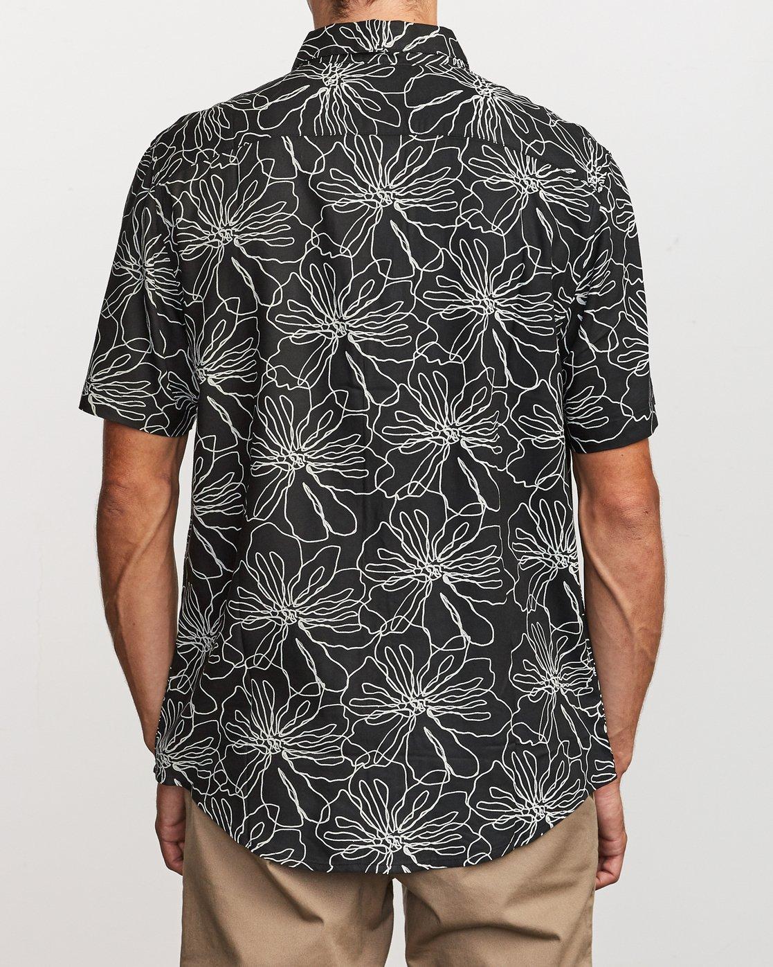 3 Blind Floral Button-Up Shirt Black M506VRBF RVCA