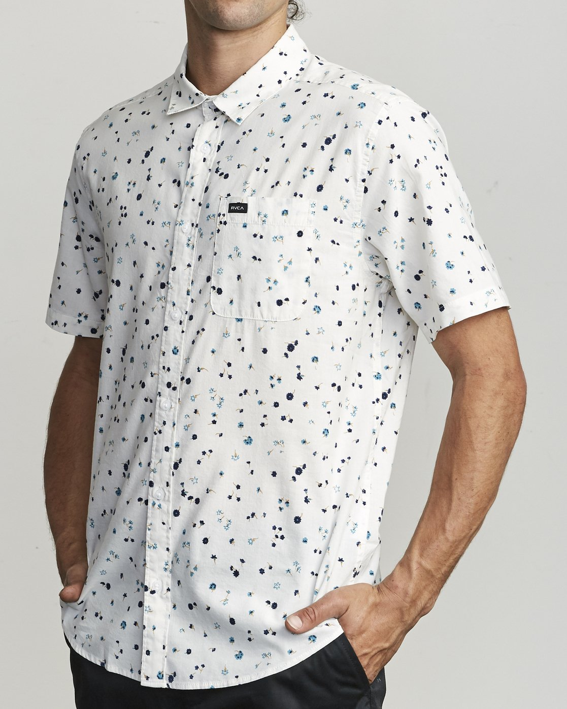 1 CALICO BUTTON-UP SHIRT White M5071RCL RVCA