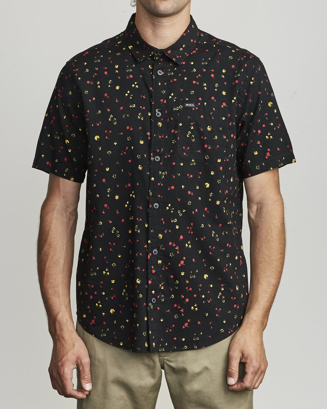 0 CALICO BUTTON-UP SHIRT Black M5071RCL RVCA