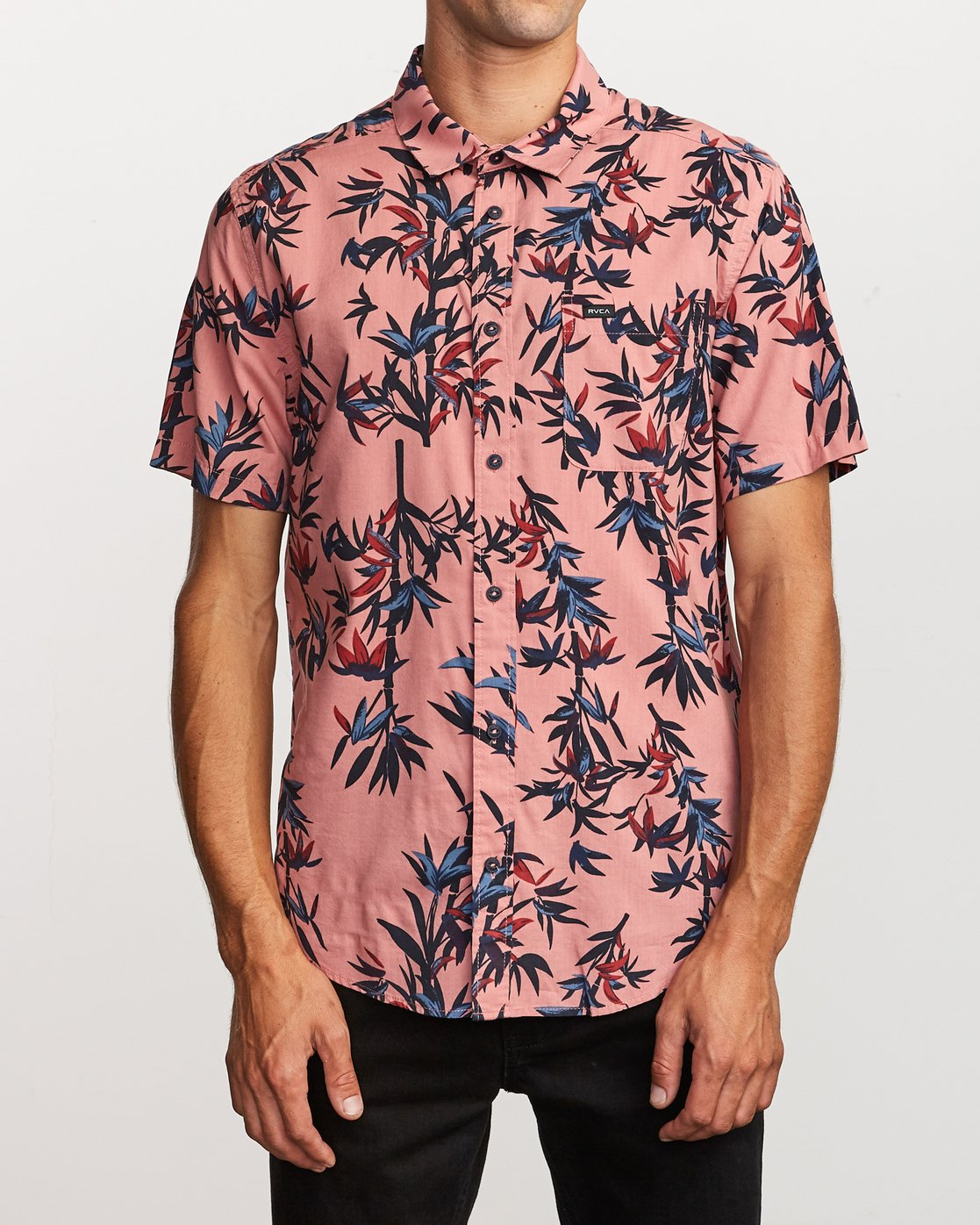 1 Bamboozled Button-Up Shirt Pink M507VRBB RVCA