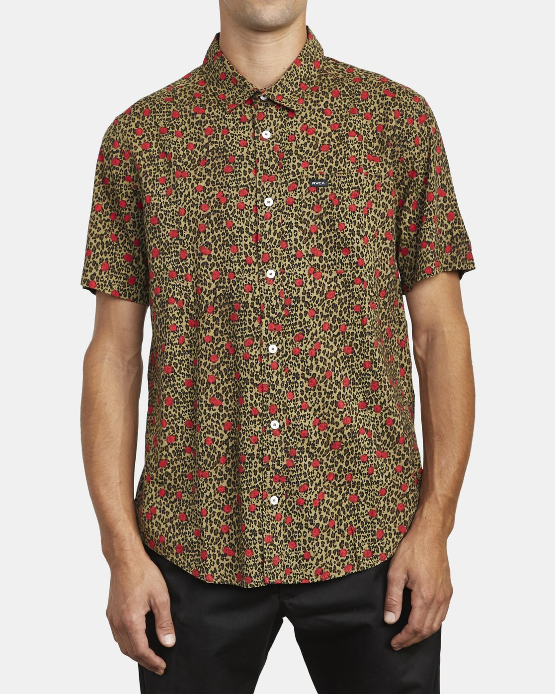 1 JUNGLE FUZZ SHORT SLEEVE SHIRT Beige M5083RJF RVCA