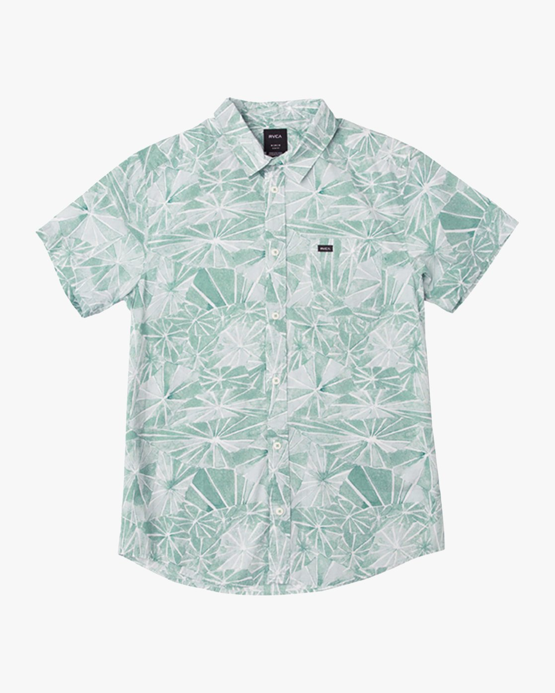 0 Blade Printed Button-Up Shirt Green M508QRBL RVCA