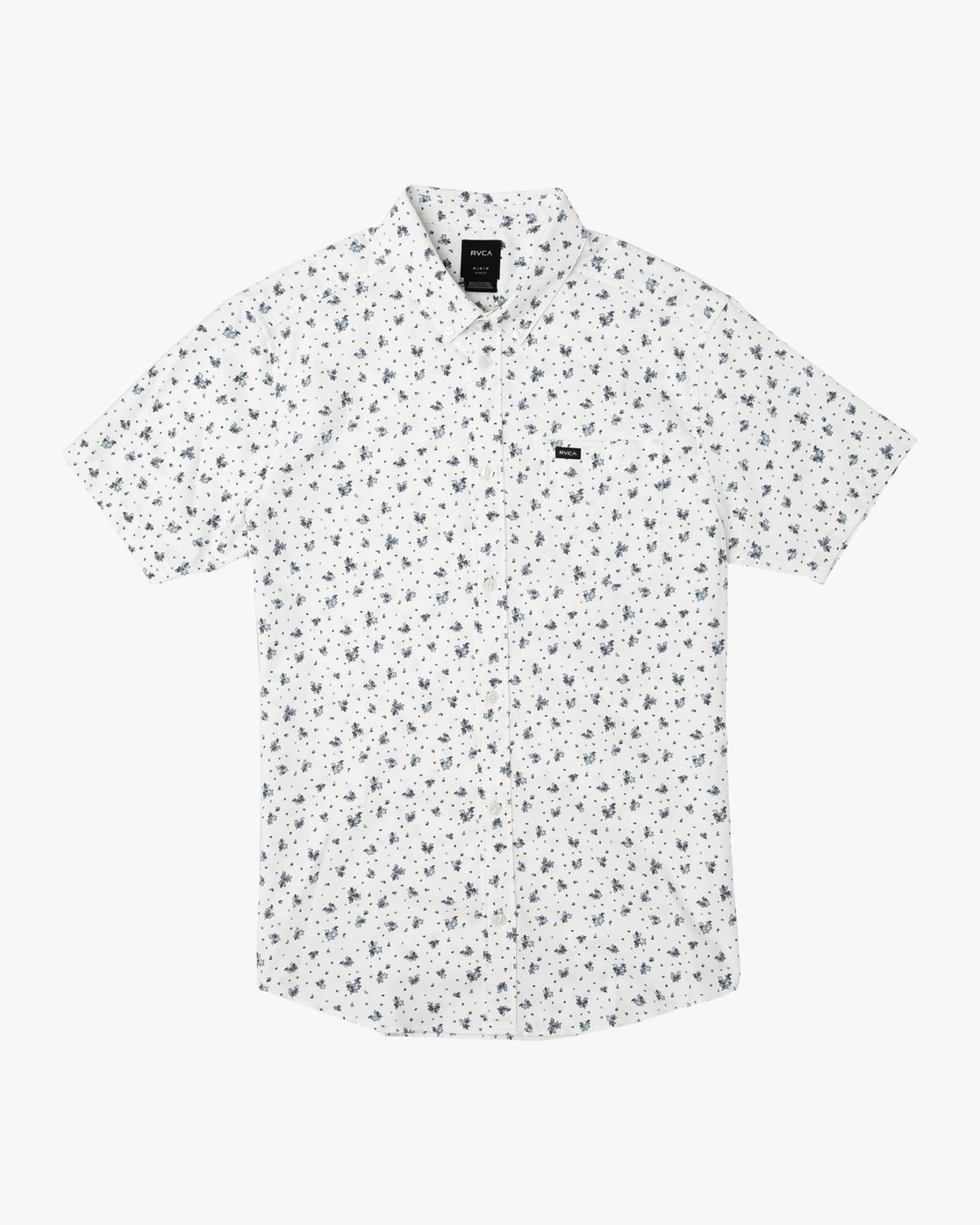0 That'll Do Print Button-Up Shirt White M508TRTP RVCA