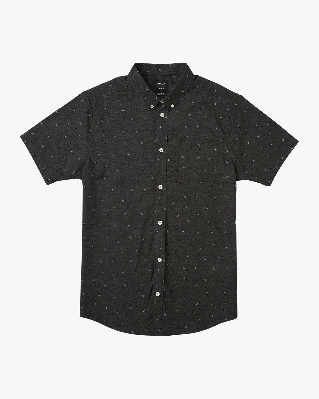 4 That'll Do Print Short Sleeve Shirt Black M508TRTP RVCA
