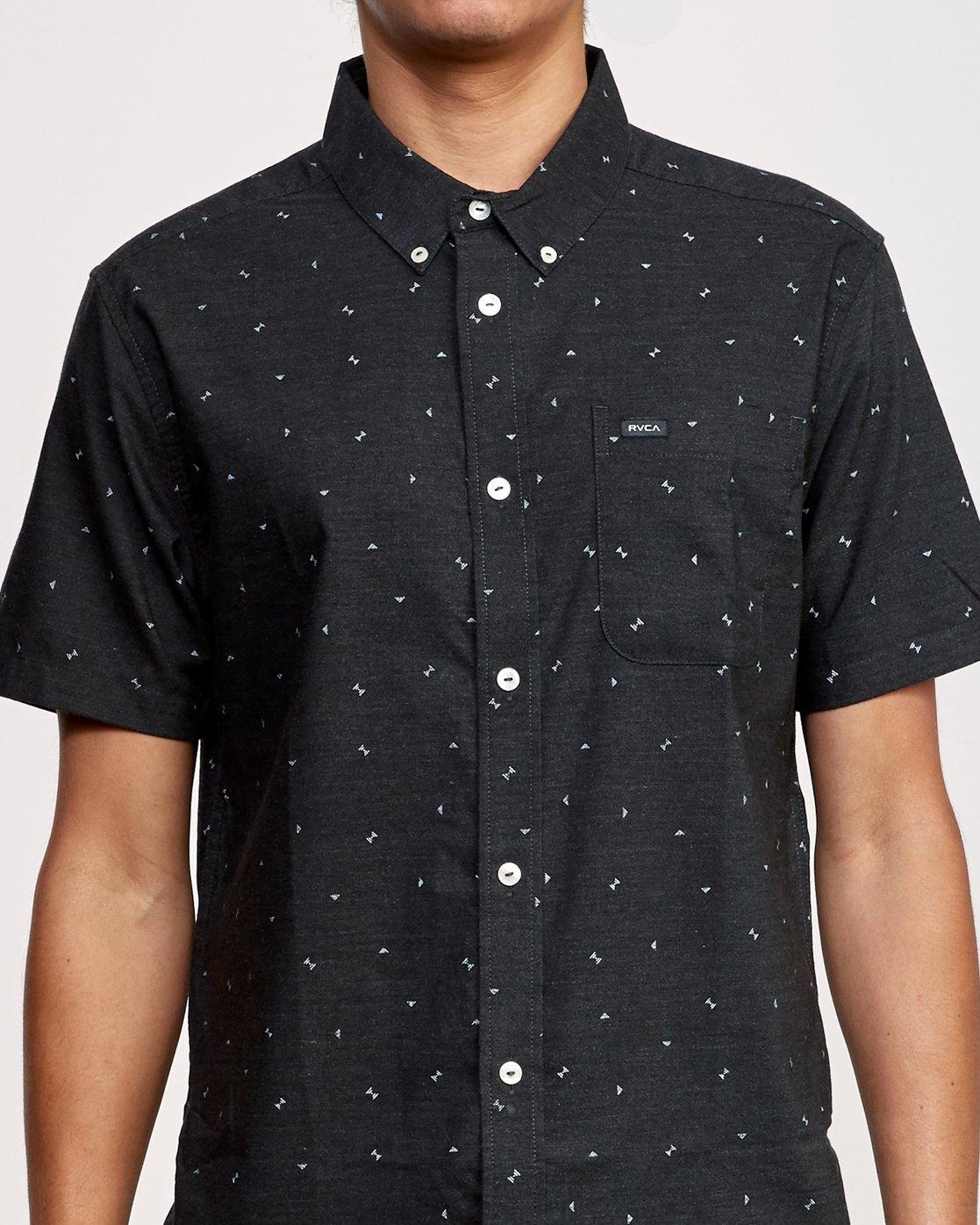 3 That'll Do Print Short Sleeve Shirt Black M508TRTP RVCA