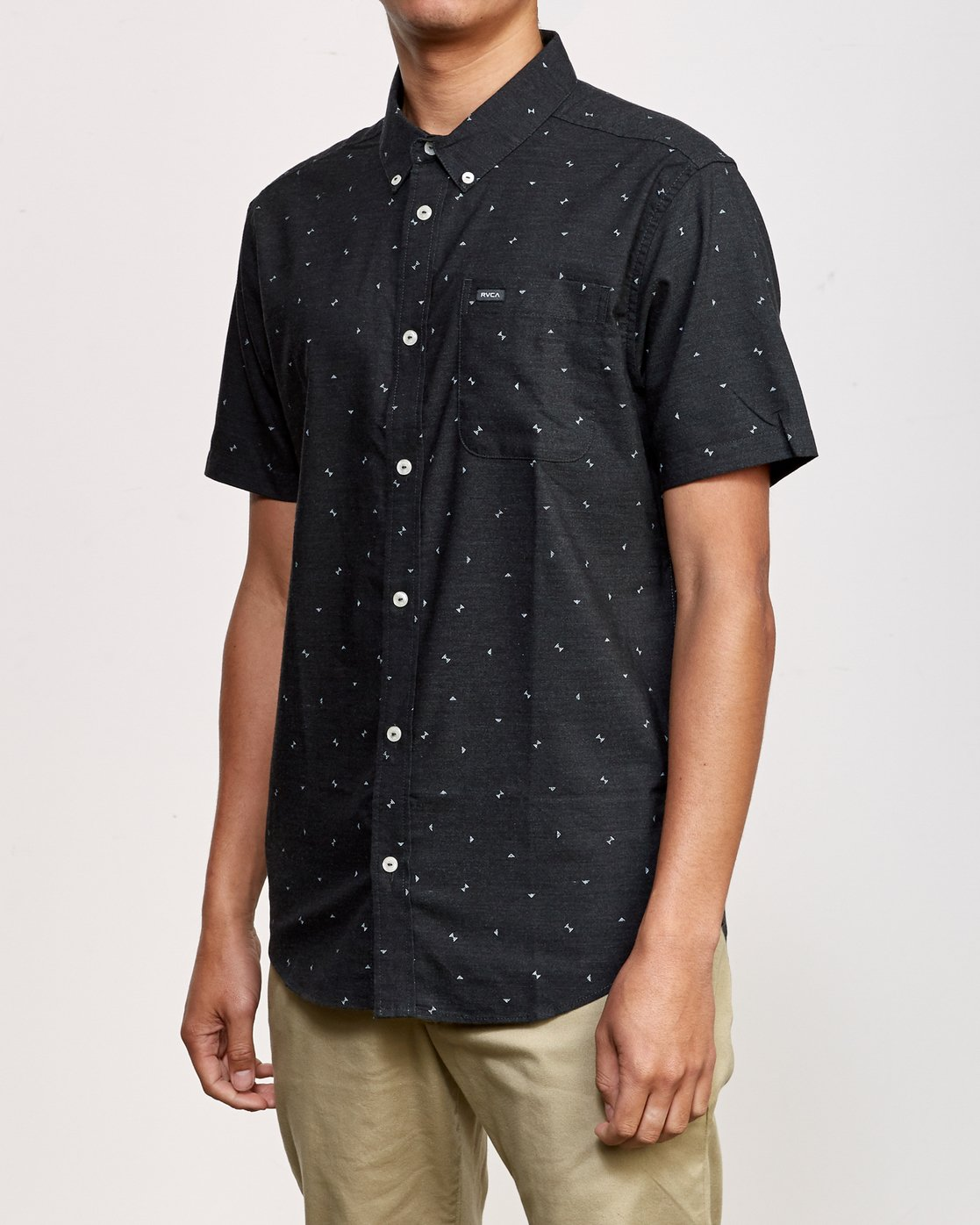 2 That'll Do Print Short Sleeve Shirt Black M508TRTP RVCA