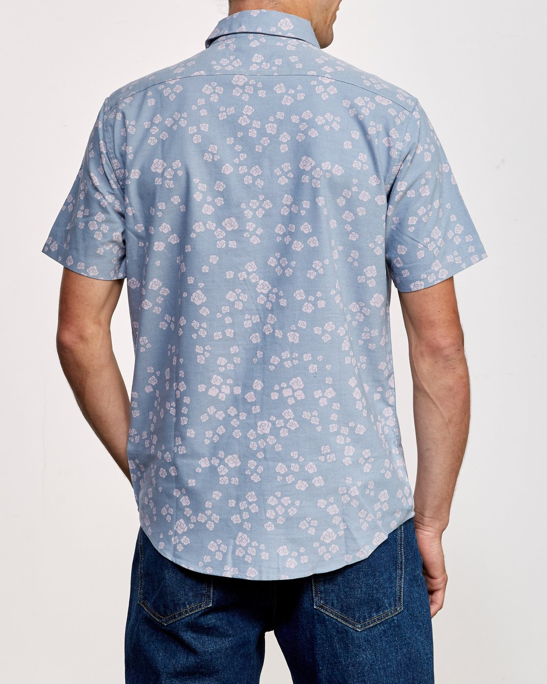 3 That'll Do Print Short Sleeve Shirt Blue M508TRTP RVCA