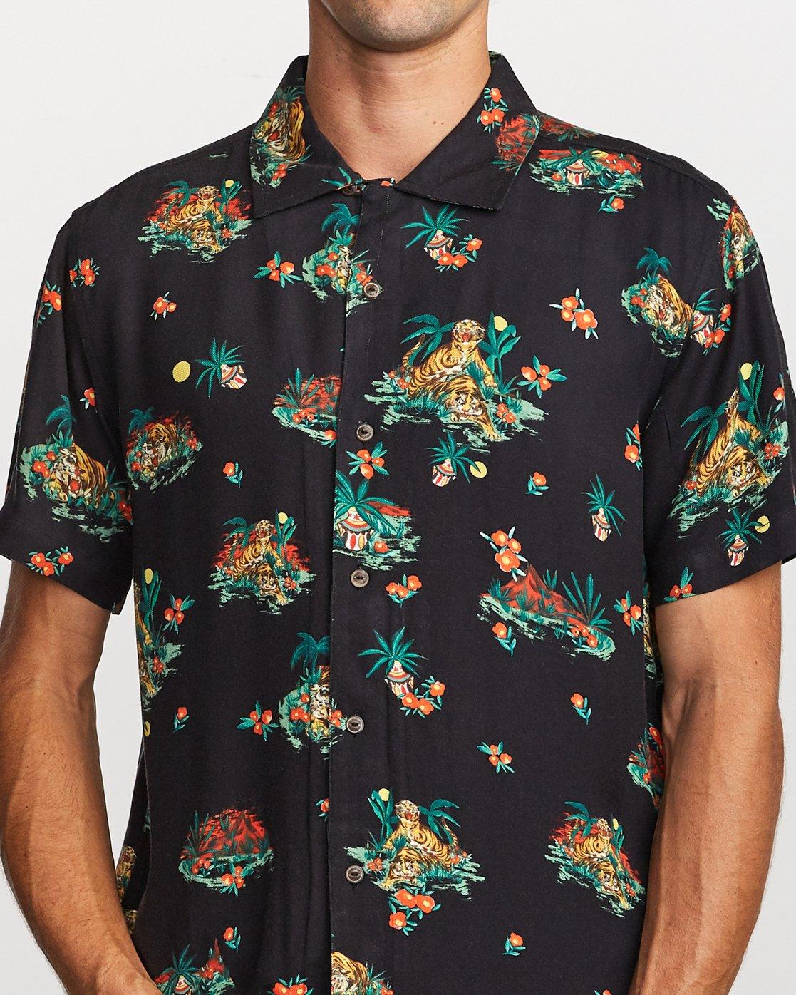 5 Grisancich II Button-Up Shirt Black M508VRGM RVCA