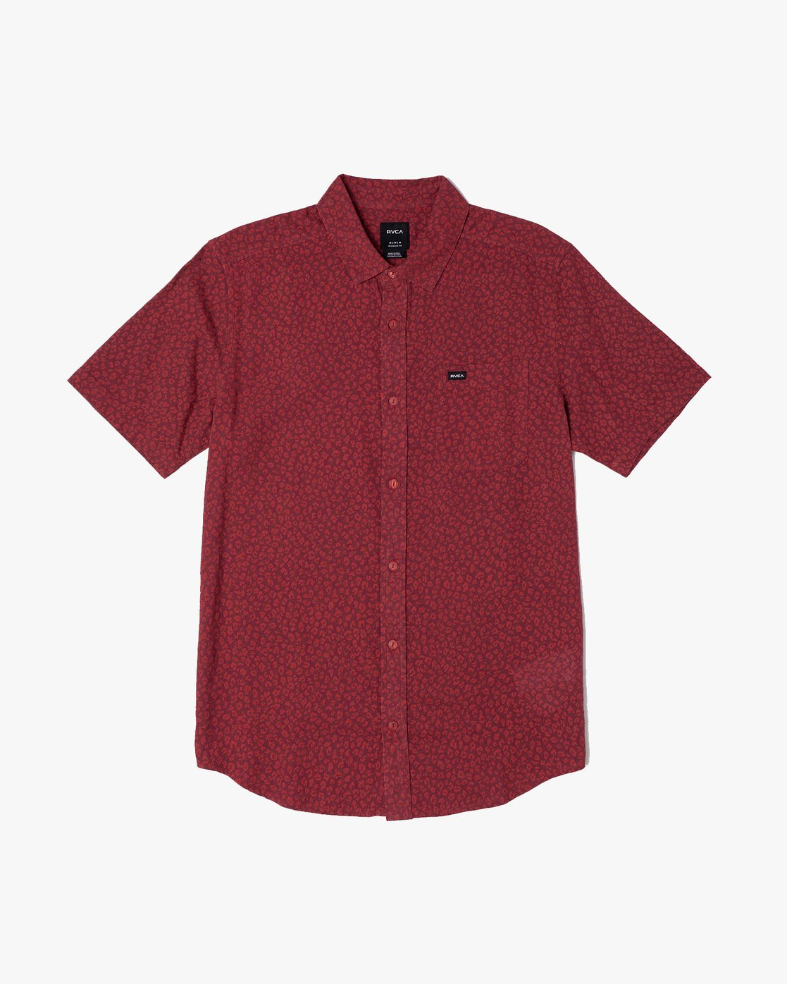 0 PRESIDIO BUTTON-UP SHIRT Red M5091RPR RVCA