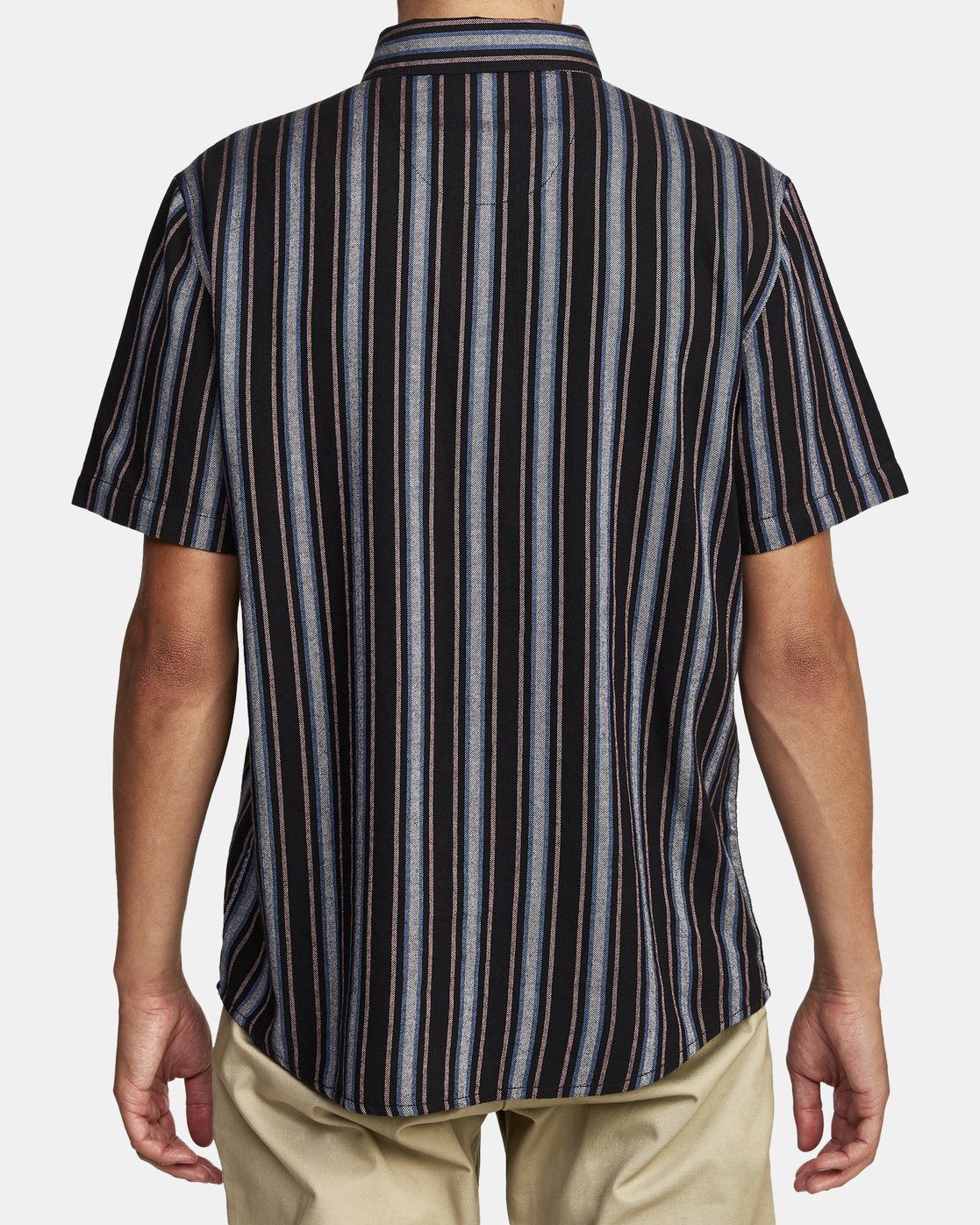 7 TOPPER STRIPE SHORT SLEEVE SHIRT Black M5092RTP RVCA