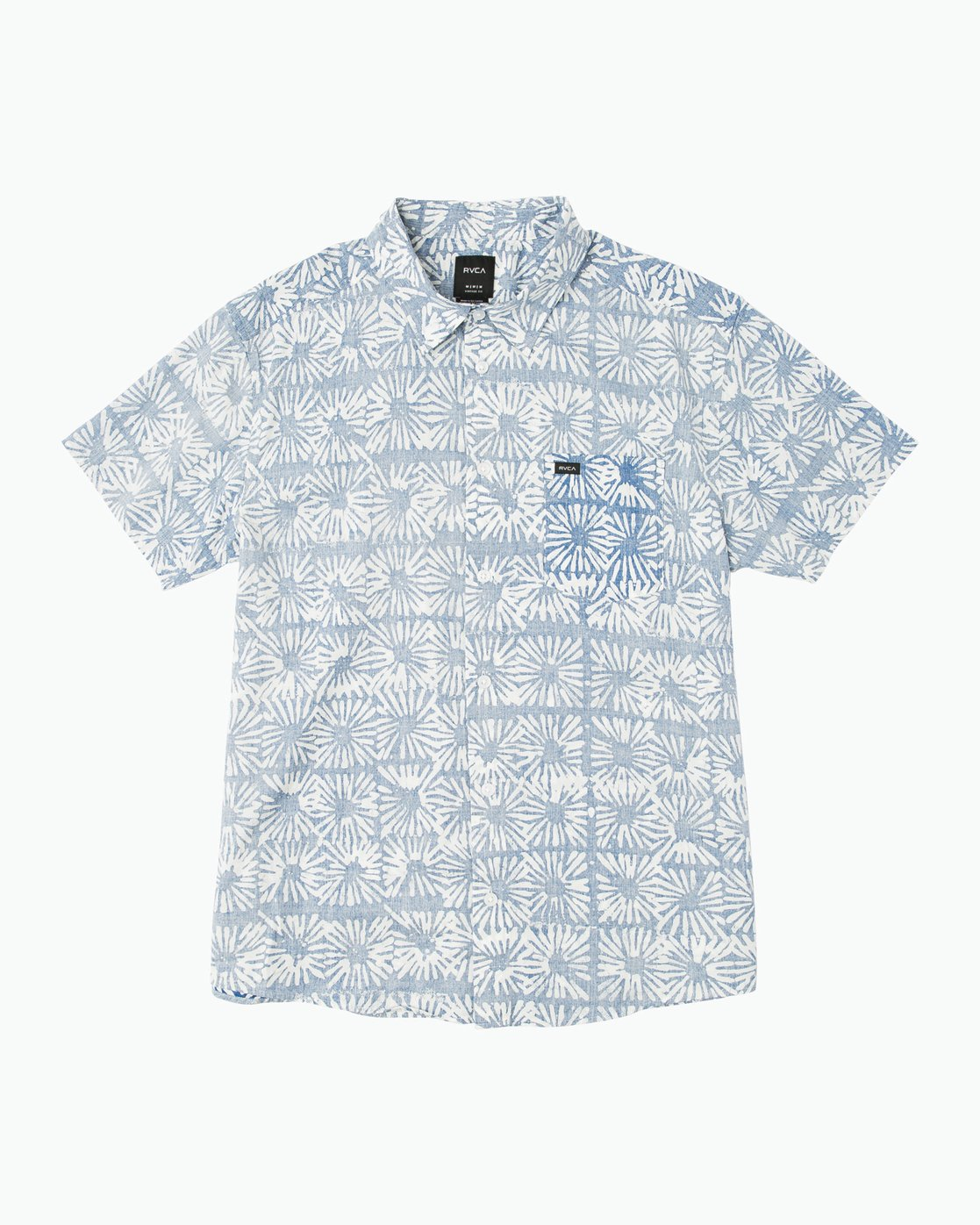 Flower Block Printed Button-Up Shirt M509PRFB | RVCA