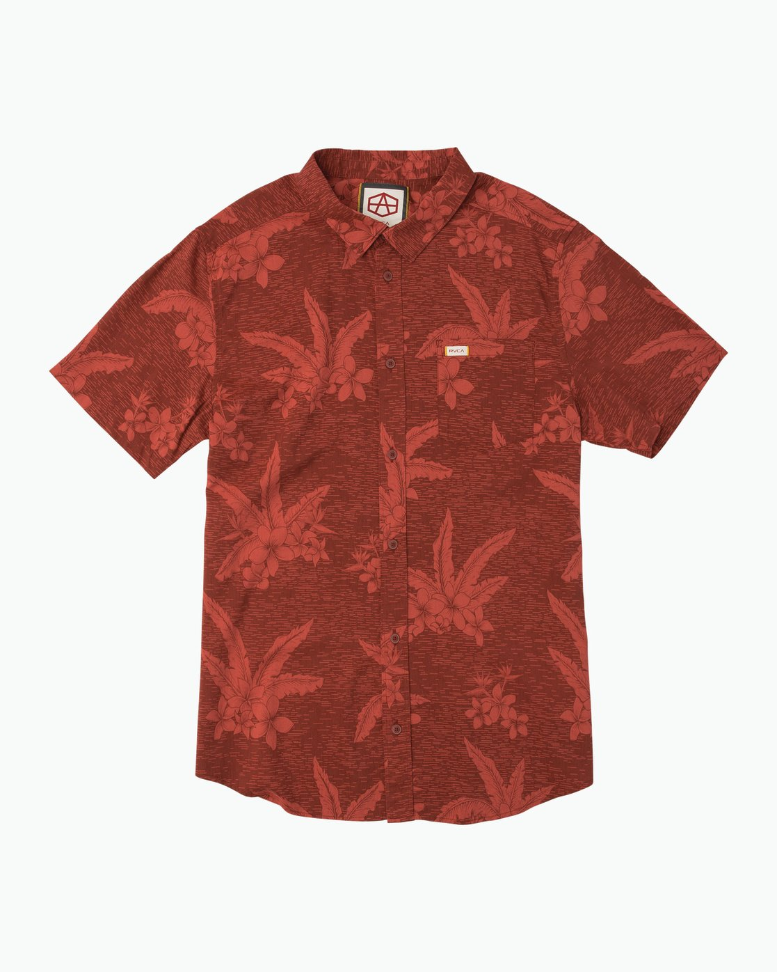 0 Andrew Reynolds Hawaiian Button-Up Shirt Red M509QRAR RVCA
