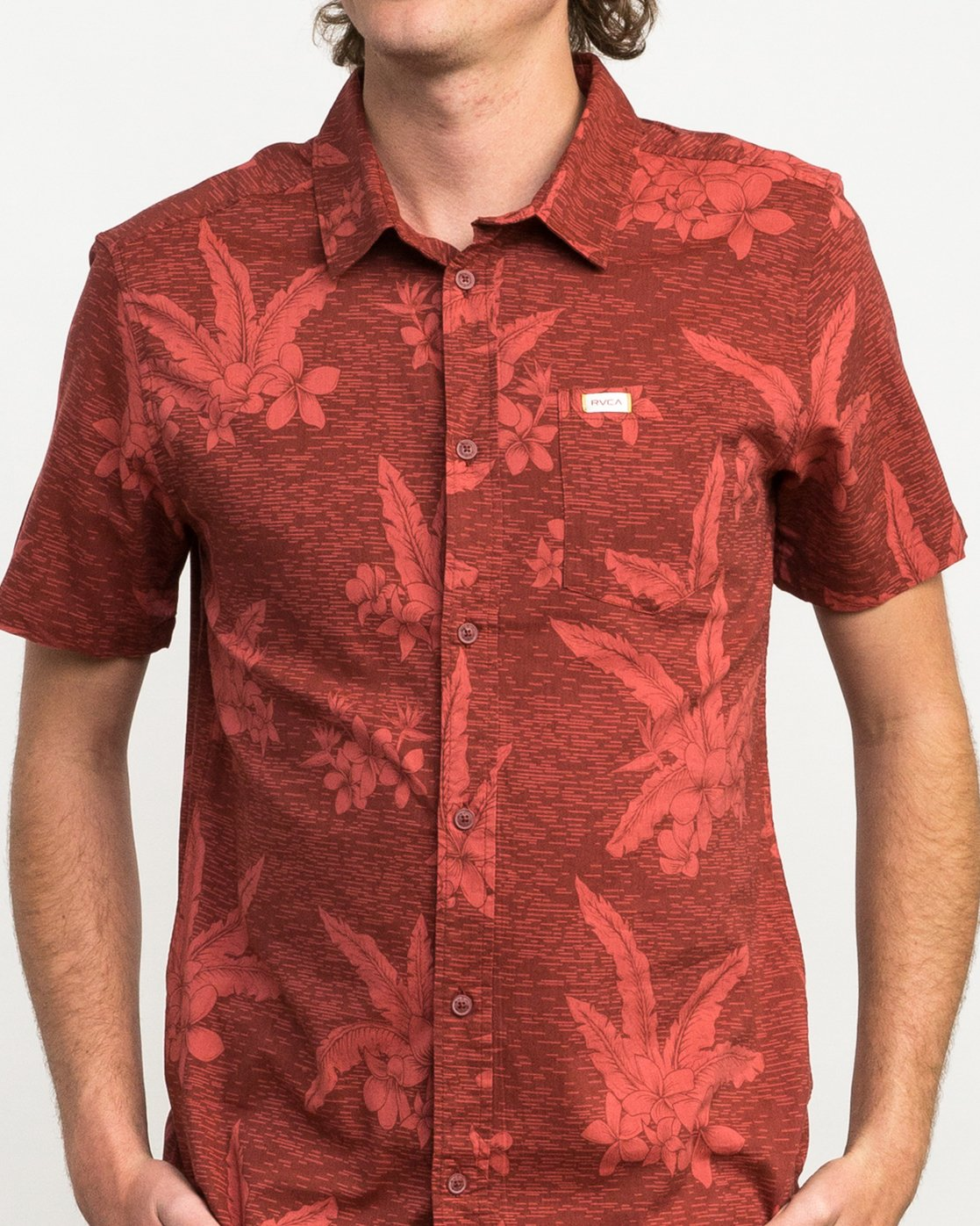 4 Andrew Reynolds Hawaiian Button-Up Shirt Red M509QRAR RVCA