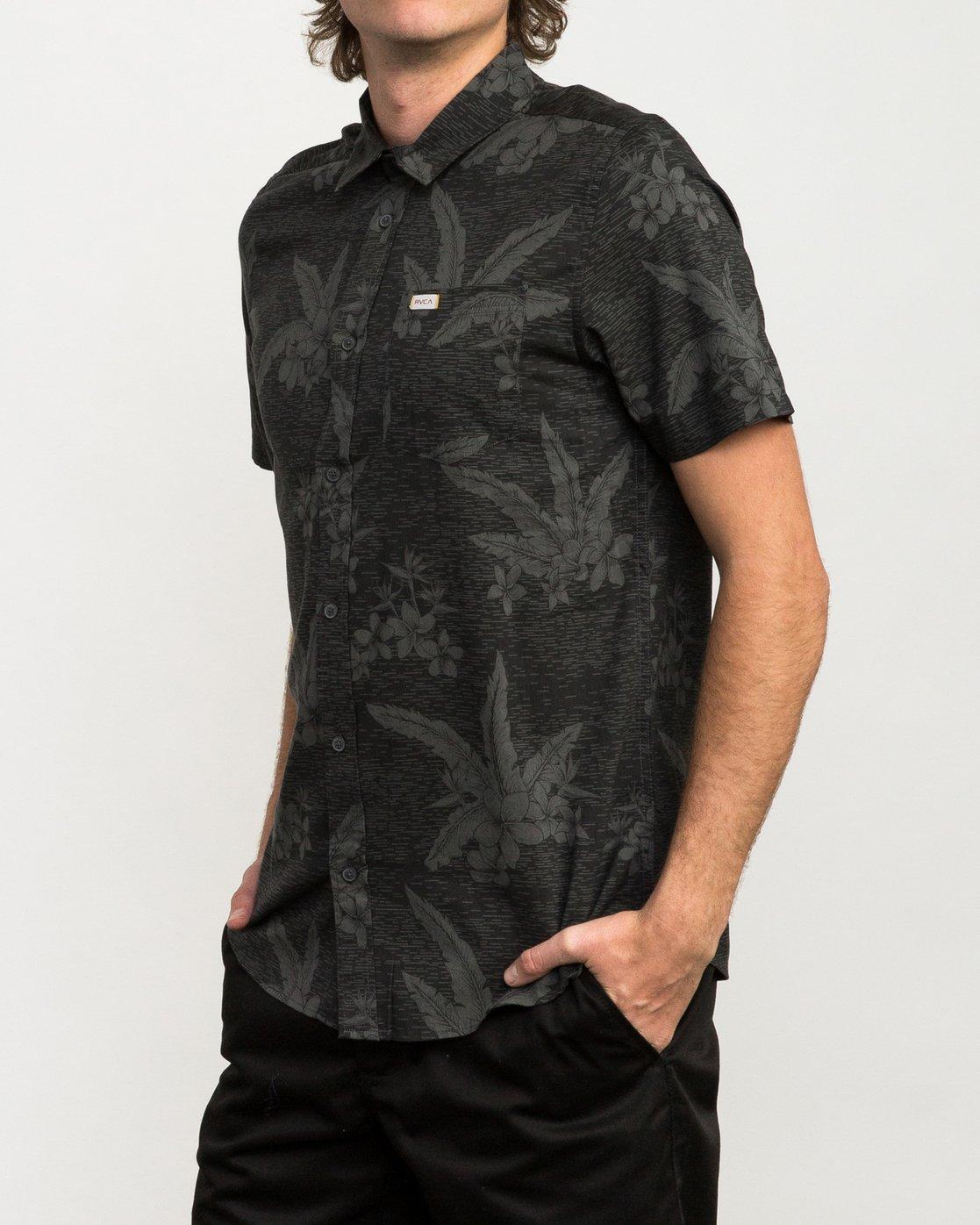 2 Andrew Reynolds Hawaiian Button-Up Shirt Black M509QRAR RVCA