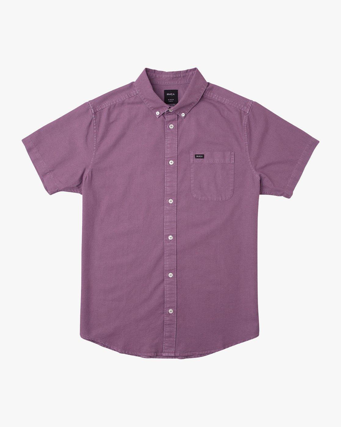 0 That'll Butter Button-Up Shirt Purple M509TRTB RVCA